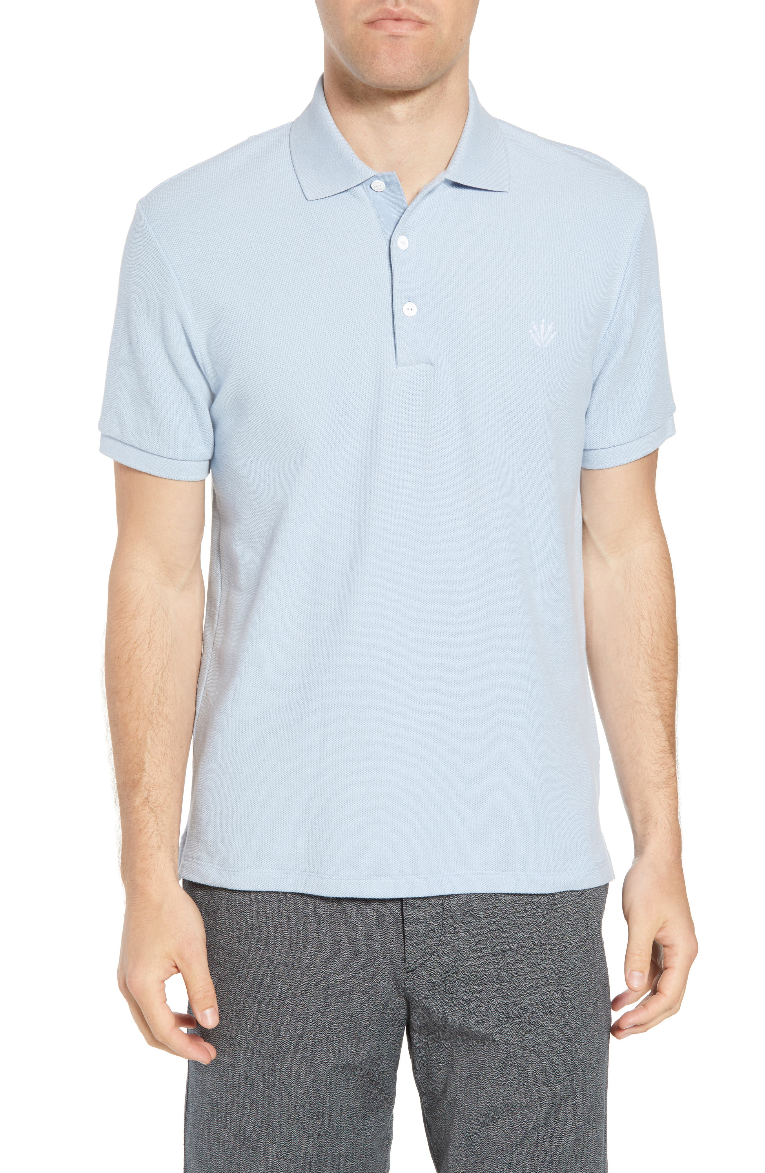 Regular Fit Polo,                             Main thumbnail 1, color,                             PALE PERWNKL