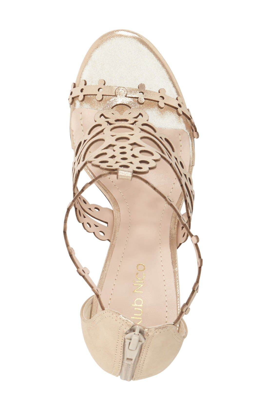 'Antonia' Laser Cut T-Strap Sandal,                             Alternate thumbnail 13, color,