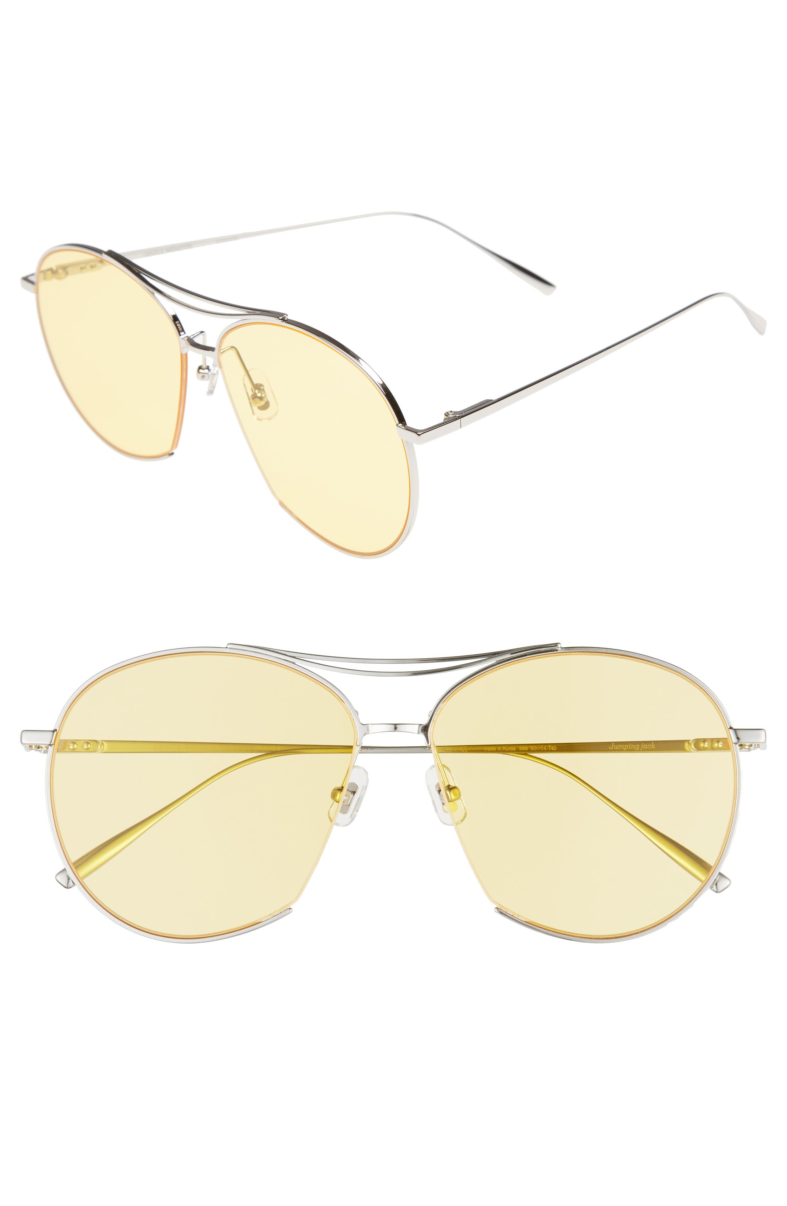 Jumping Jack 60mm Aviator Sunglasses,                             Main thumbnail 1, color,                             041