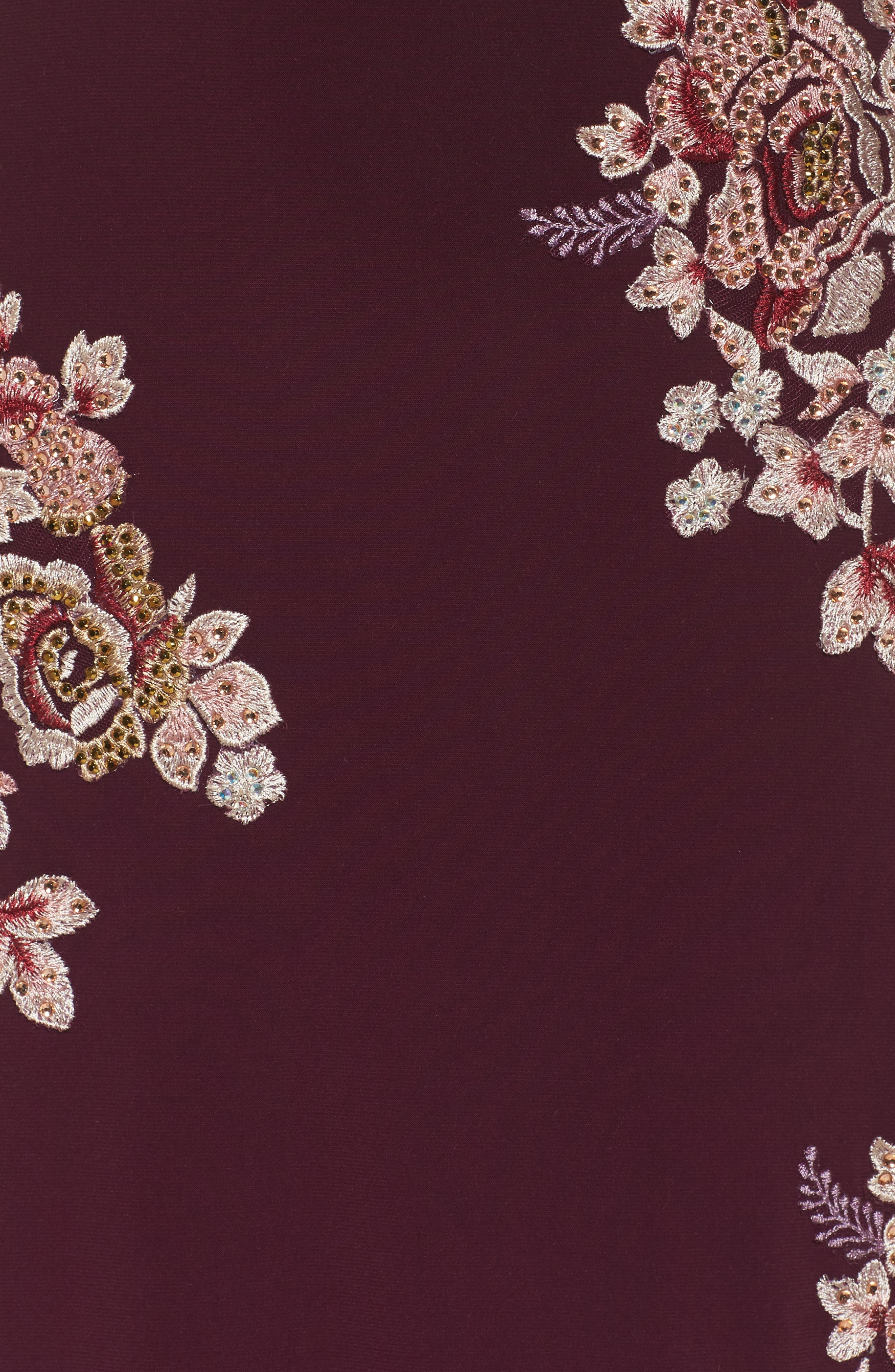 Embellished Floral Halter Gown,                             Alternate thumbnail 5, color,                             930