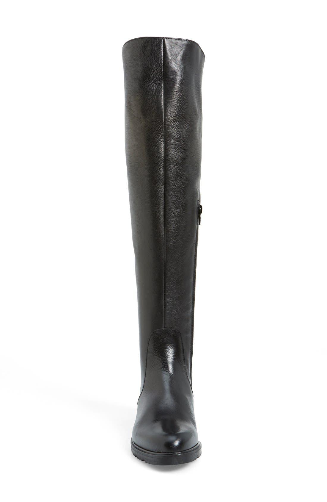 'Berenson' Elastic Back Over the Knee Boot,                             Alternate thumbnail 4, color,                             002