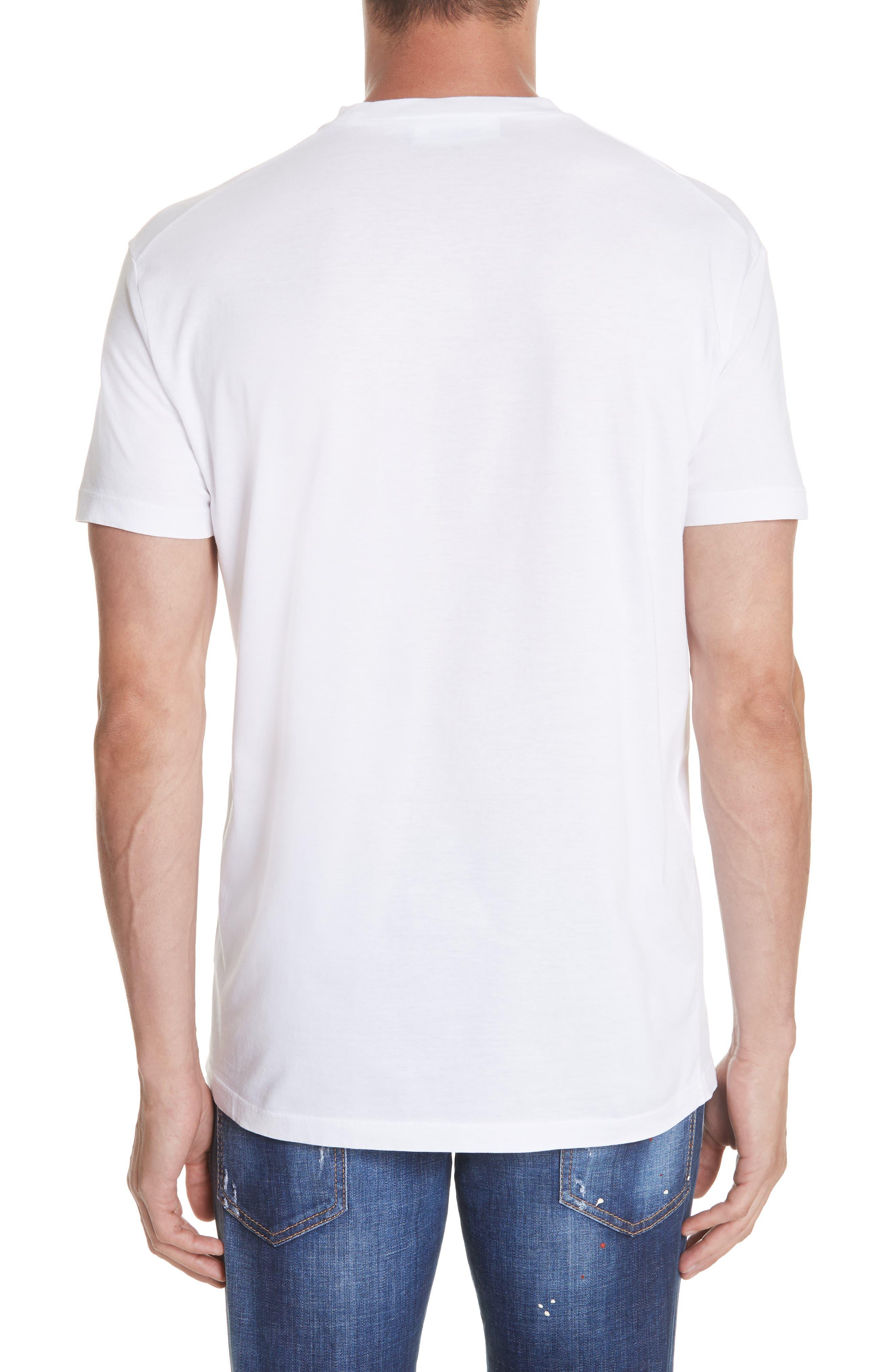 Racer Logo T-Shirt,                             Alternate thumbnail 2, color,                             WHITE