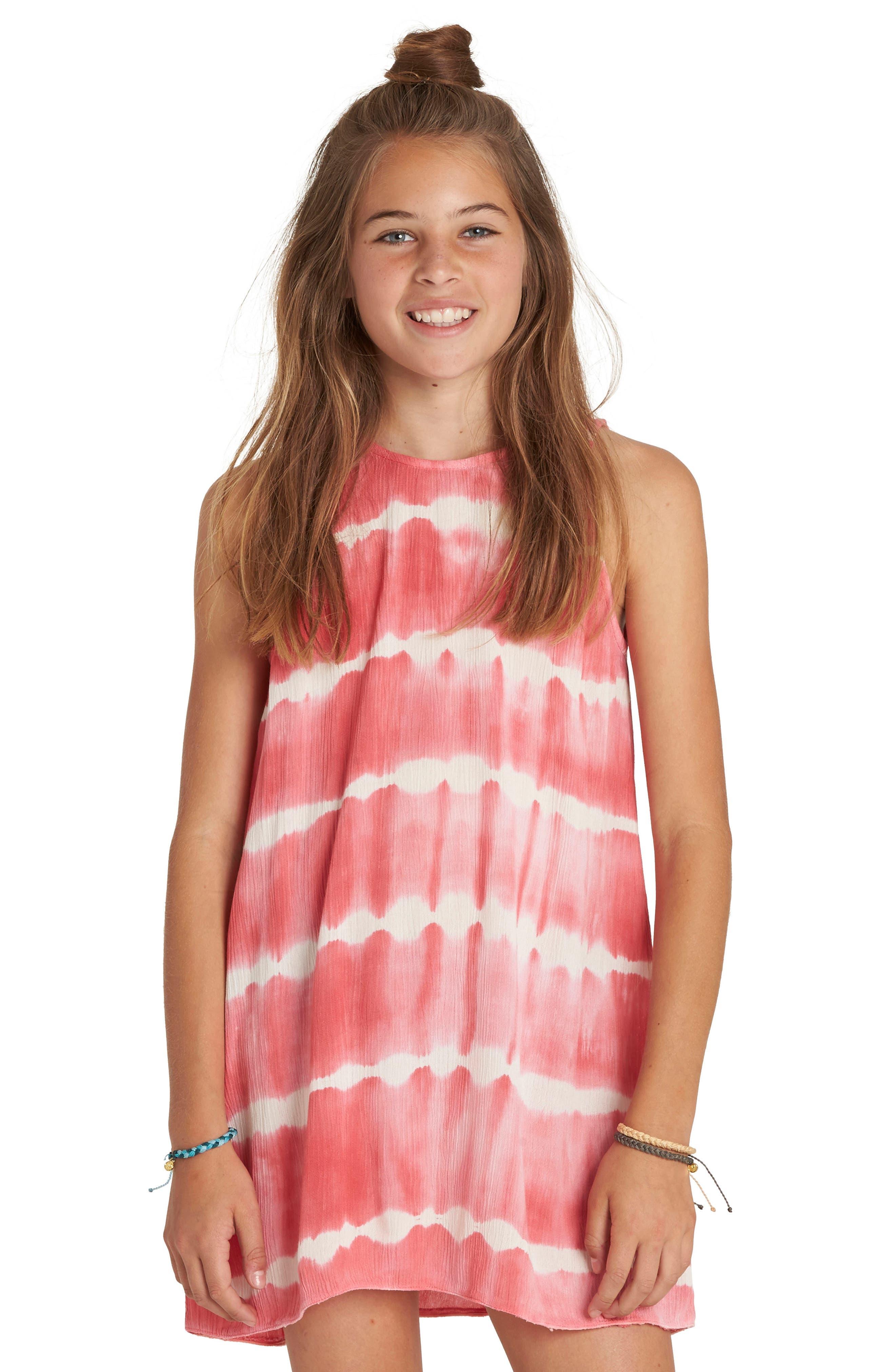 Tie Dye Stripe Dress,                         Main,                         color,