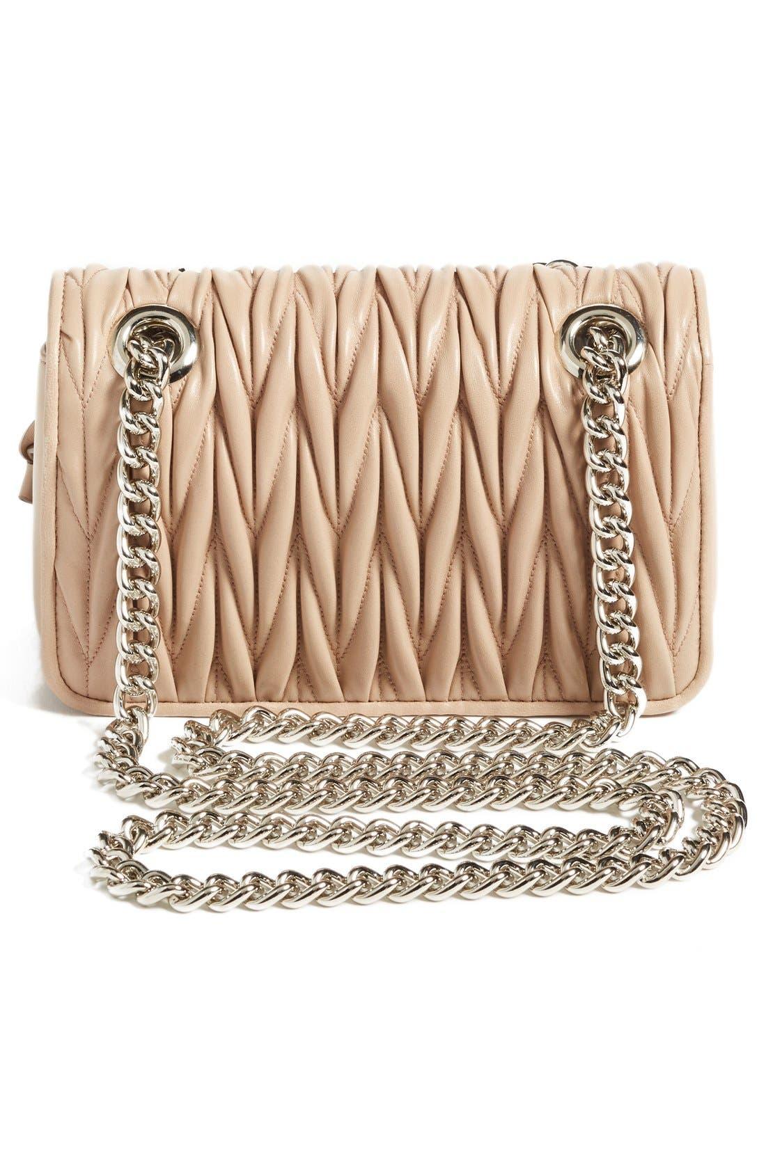 Small Matelassé Leather Shoulder Bag,                             Alternate thumbnail 15, color,