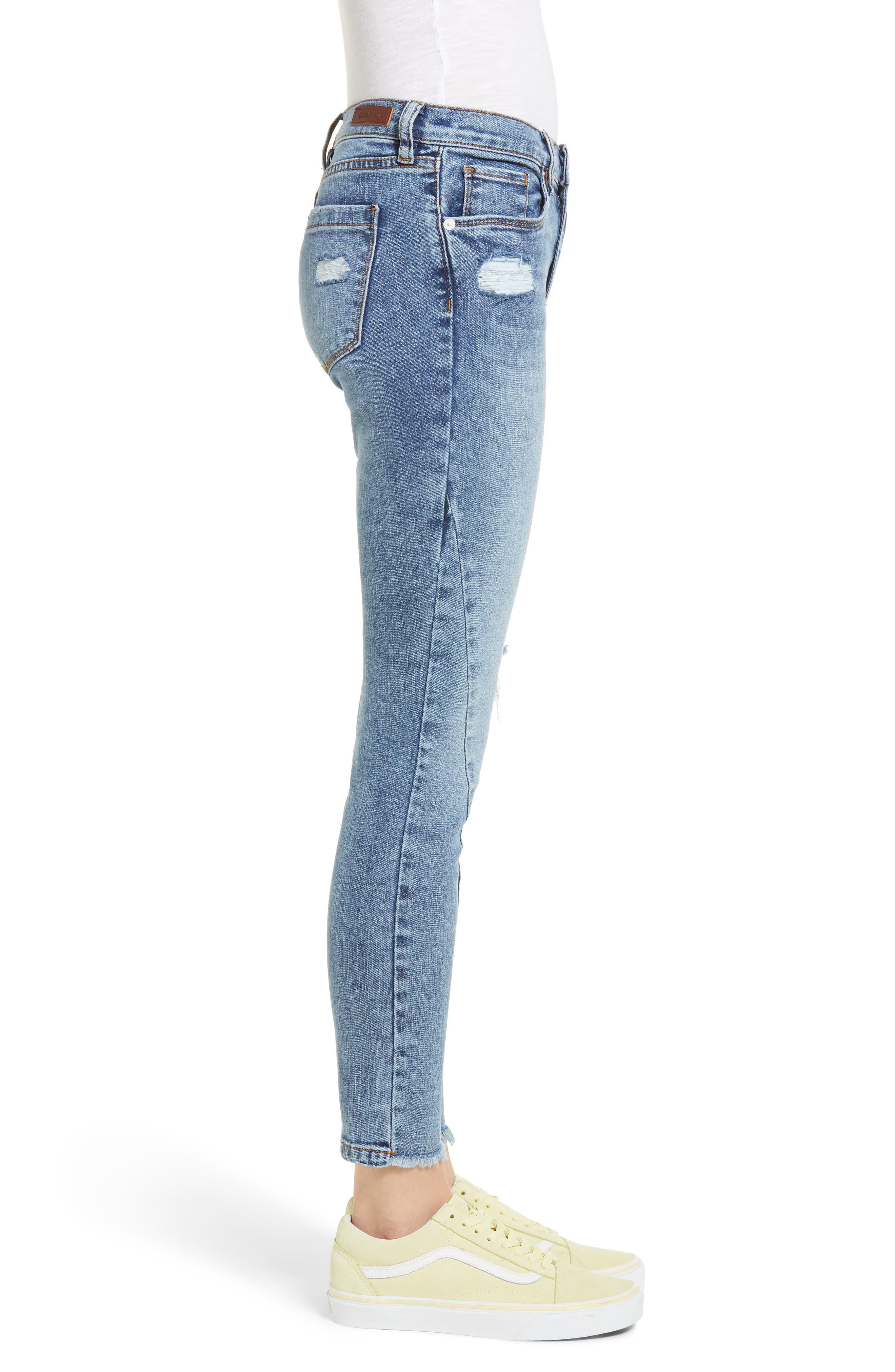 The Reade Seam Detail Skinny Jeans,                             Alternate thumbnail 3, color,                             400