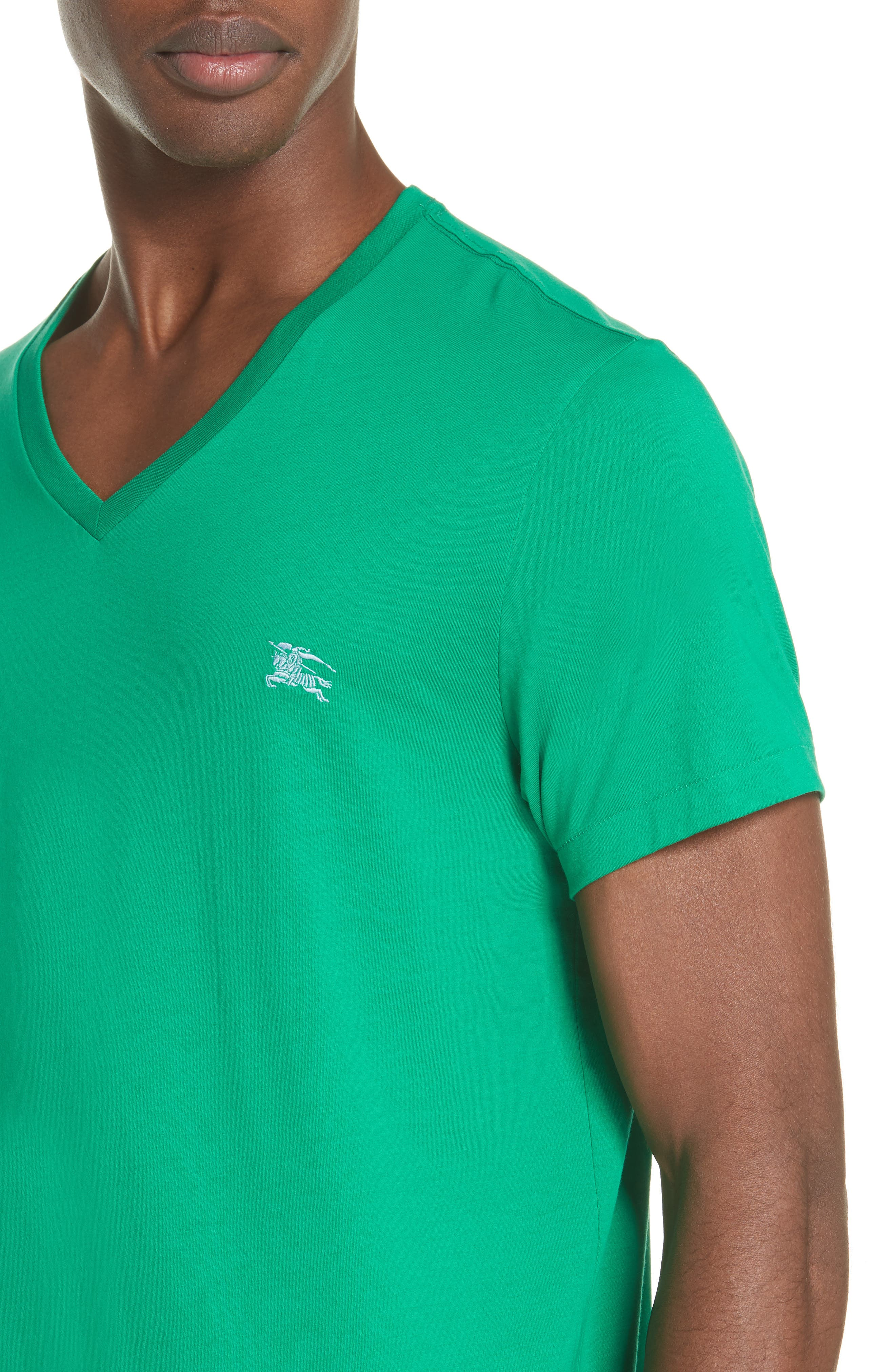 Jadford V-Neck T-Shirt,                             Alternate thumbnail 4, color,                             BRIGHT GREEN