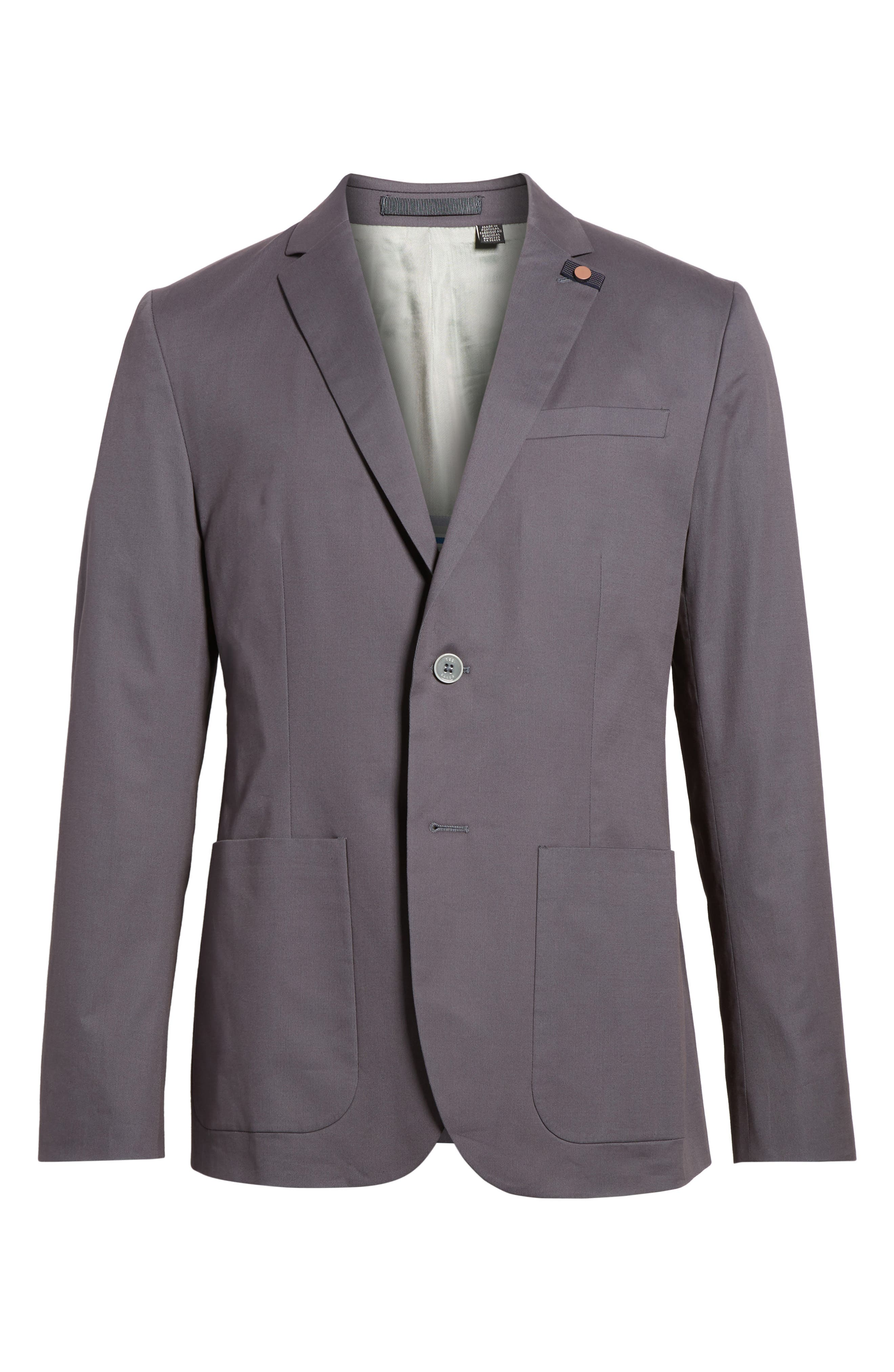 Cliford Trim Fit Stretch Cotton Blazer,                             Alternate thumbnail 5, color,                             050
