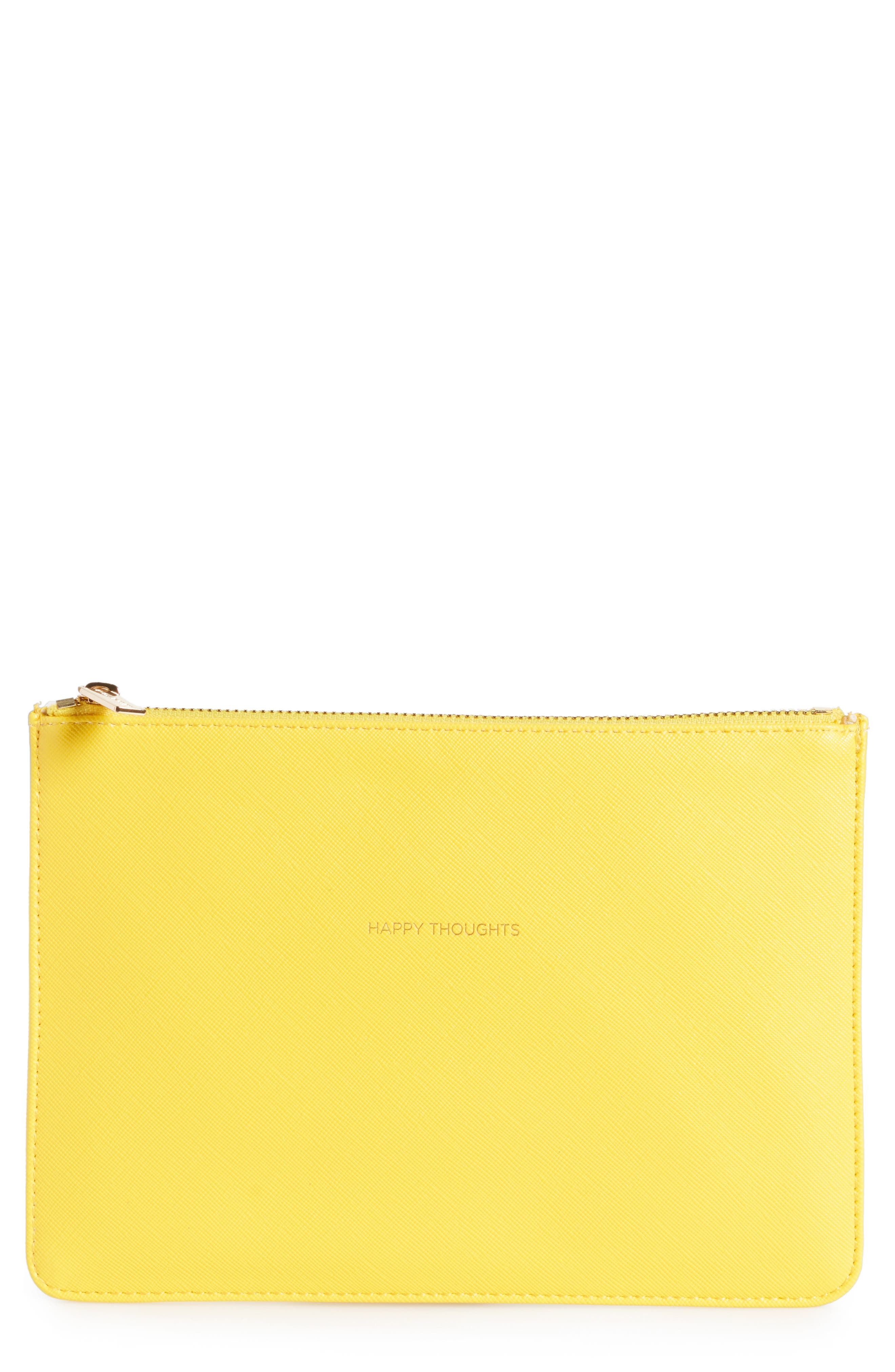 Happy Thoughts Medium Faux Leather Pouch,                         Main,                         color, 700