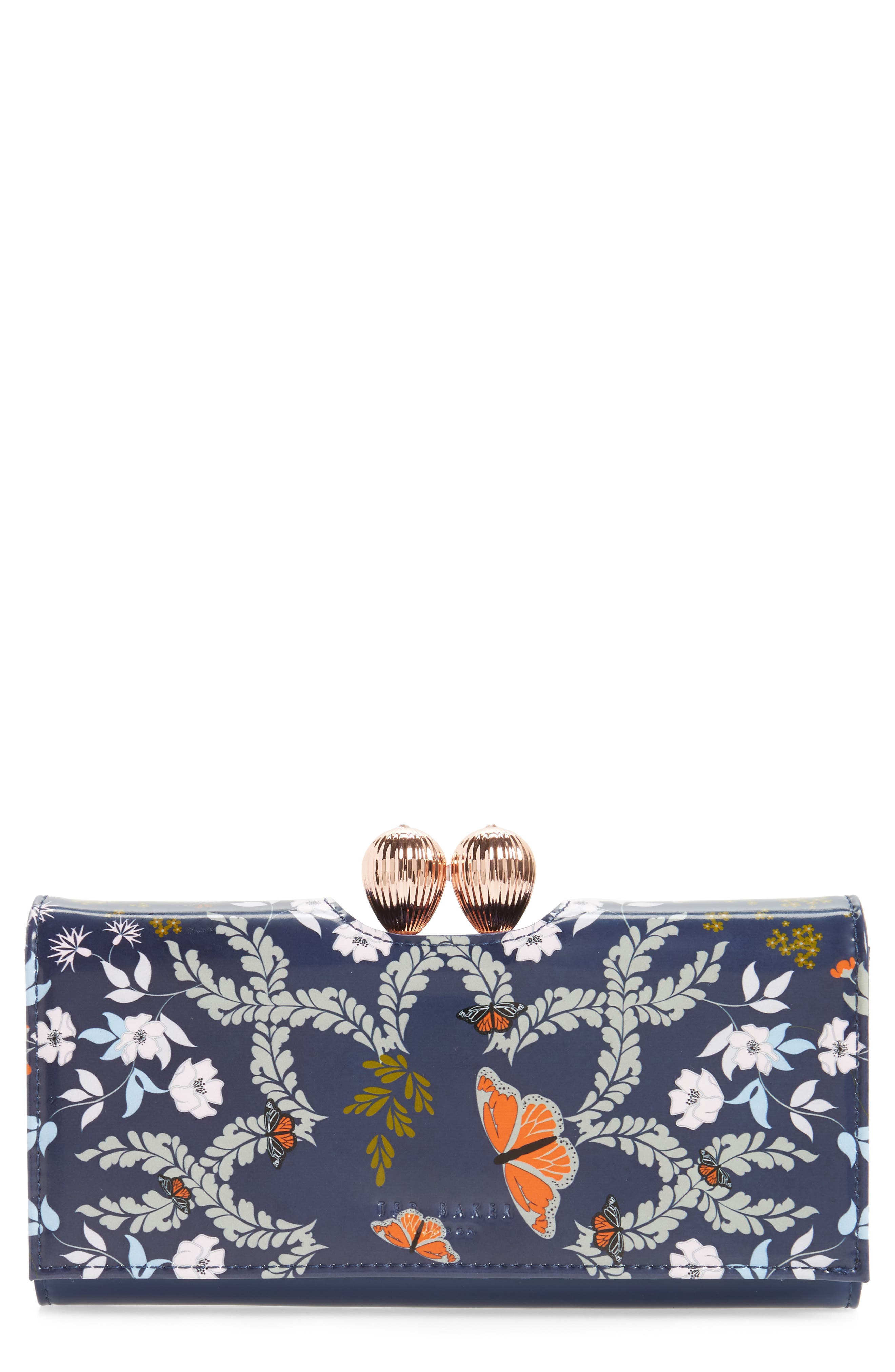 Milissa - Kyoto Gardens Print Matinée Wallet,                         Main,                         color,