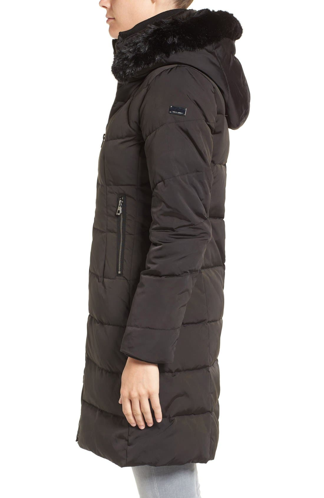 Down & Feather Fill Coat with Faux Fur Trim Hood,                             Alternate thumbnail 17, color,