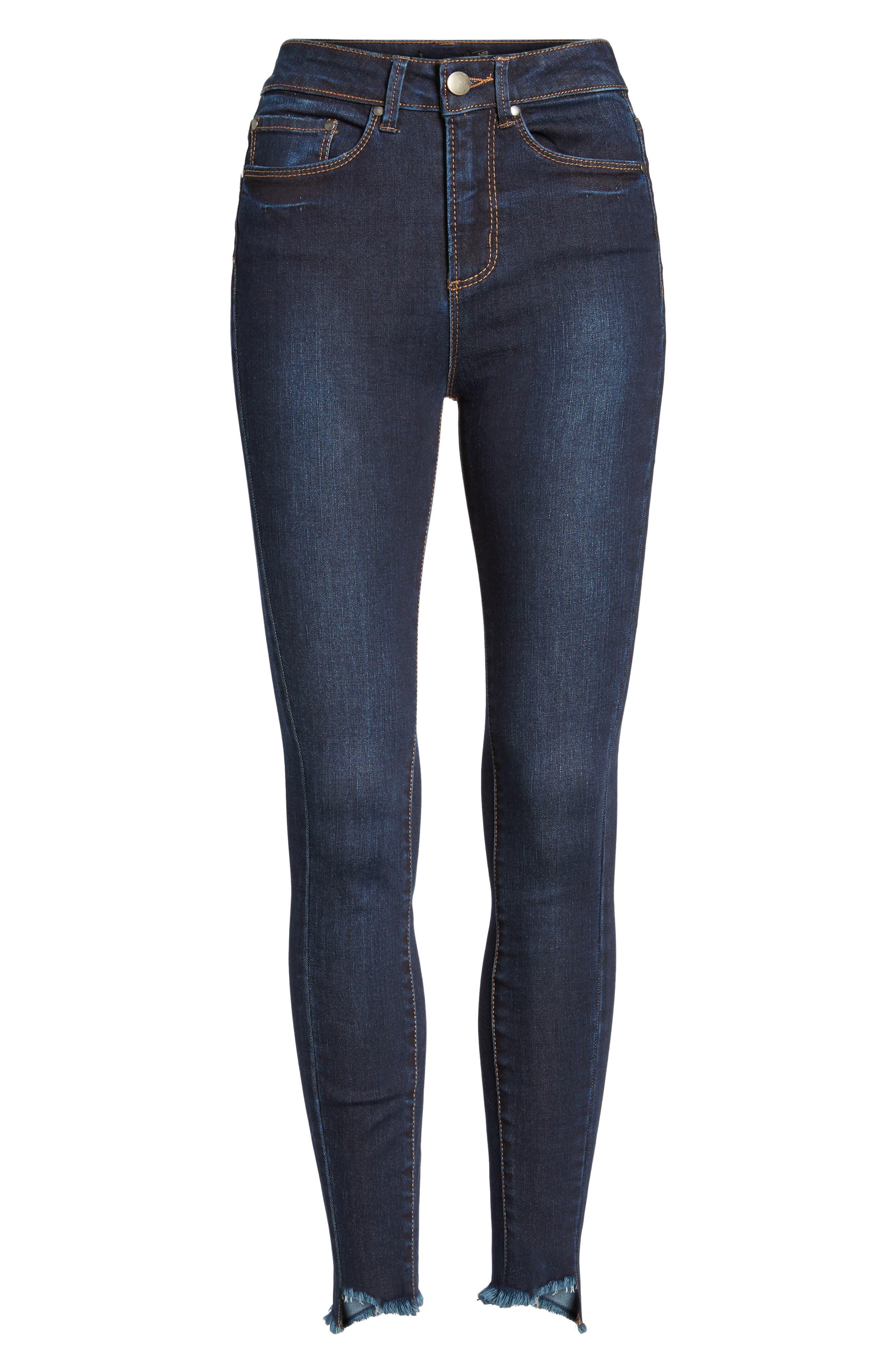 Clark High Waist Skinny Jeans,                             Alternate thumbnail 7, color,                             400