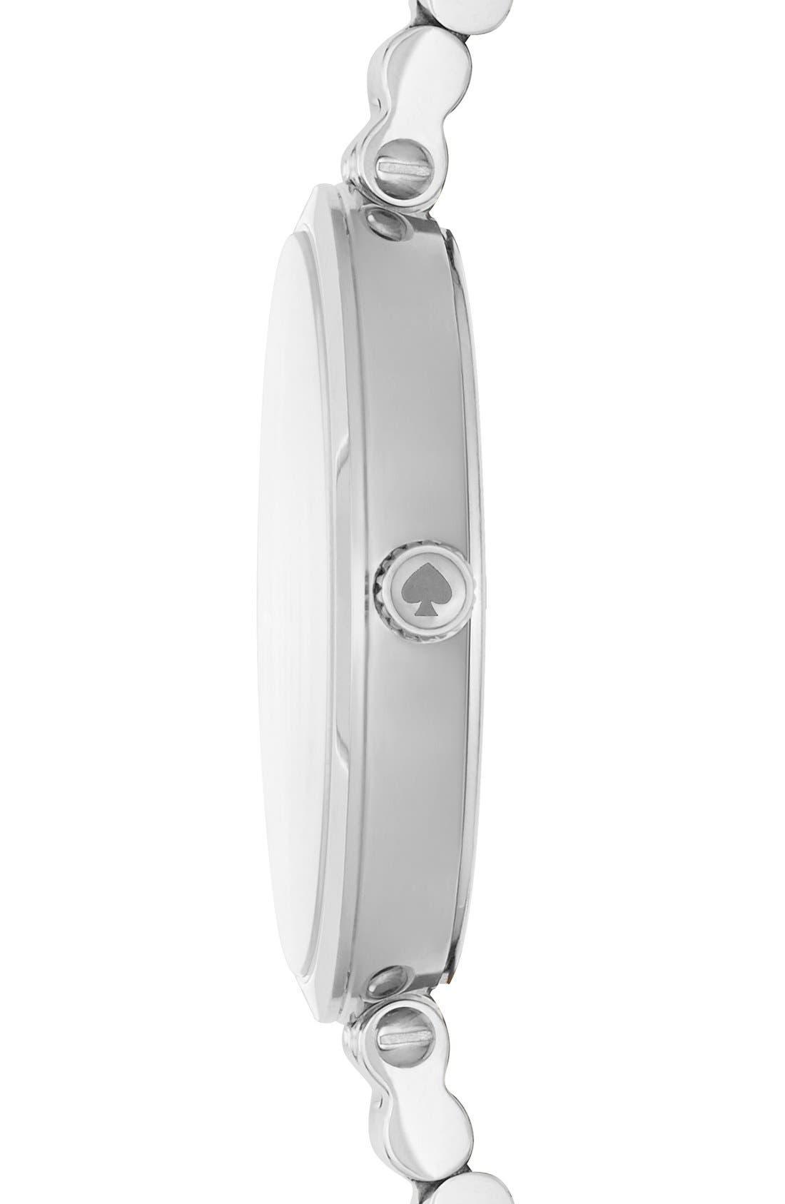 holland bracelet watch, 34mm,                             Alternate thumbnail 2, color,                             SILVER