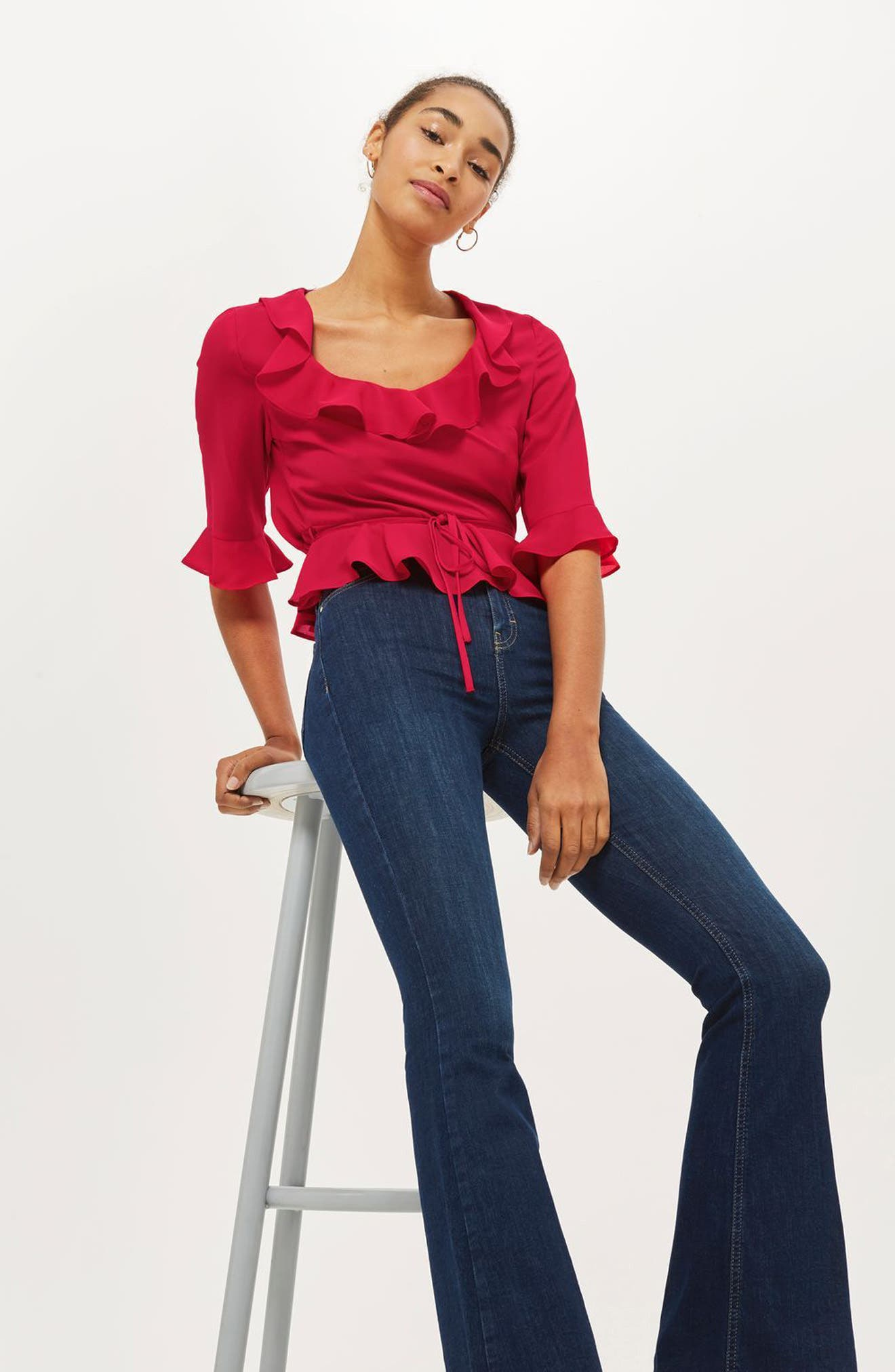 Phoebe Frilly Blouse,                             Alternate thumbnail 28, color,