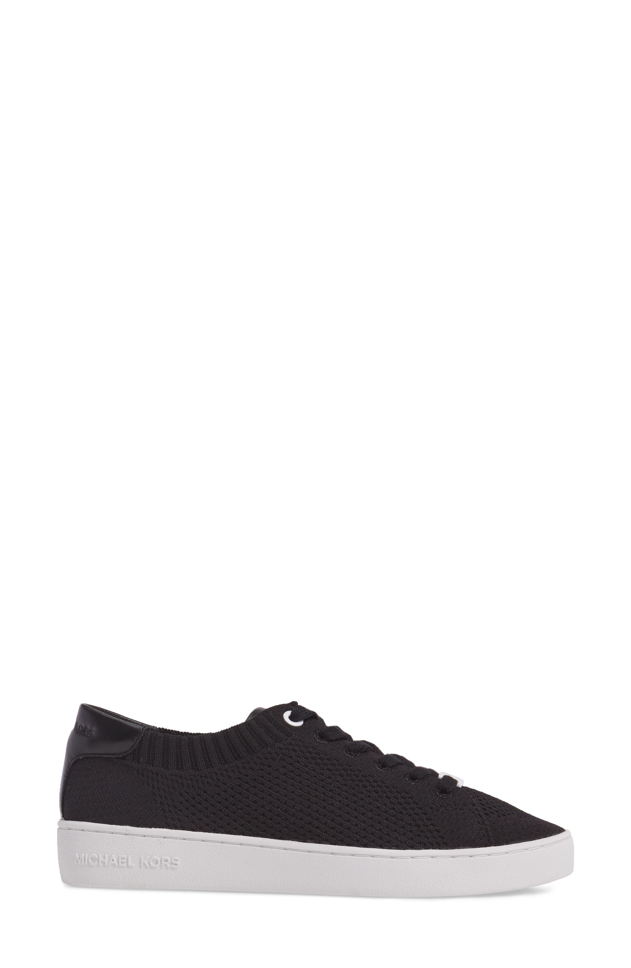 Skyler Knit Sneaker,                             Alternate thumbnail 3, color,                             001
