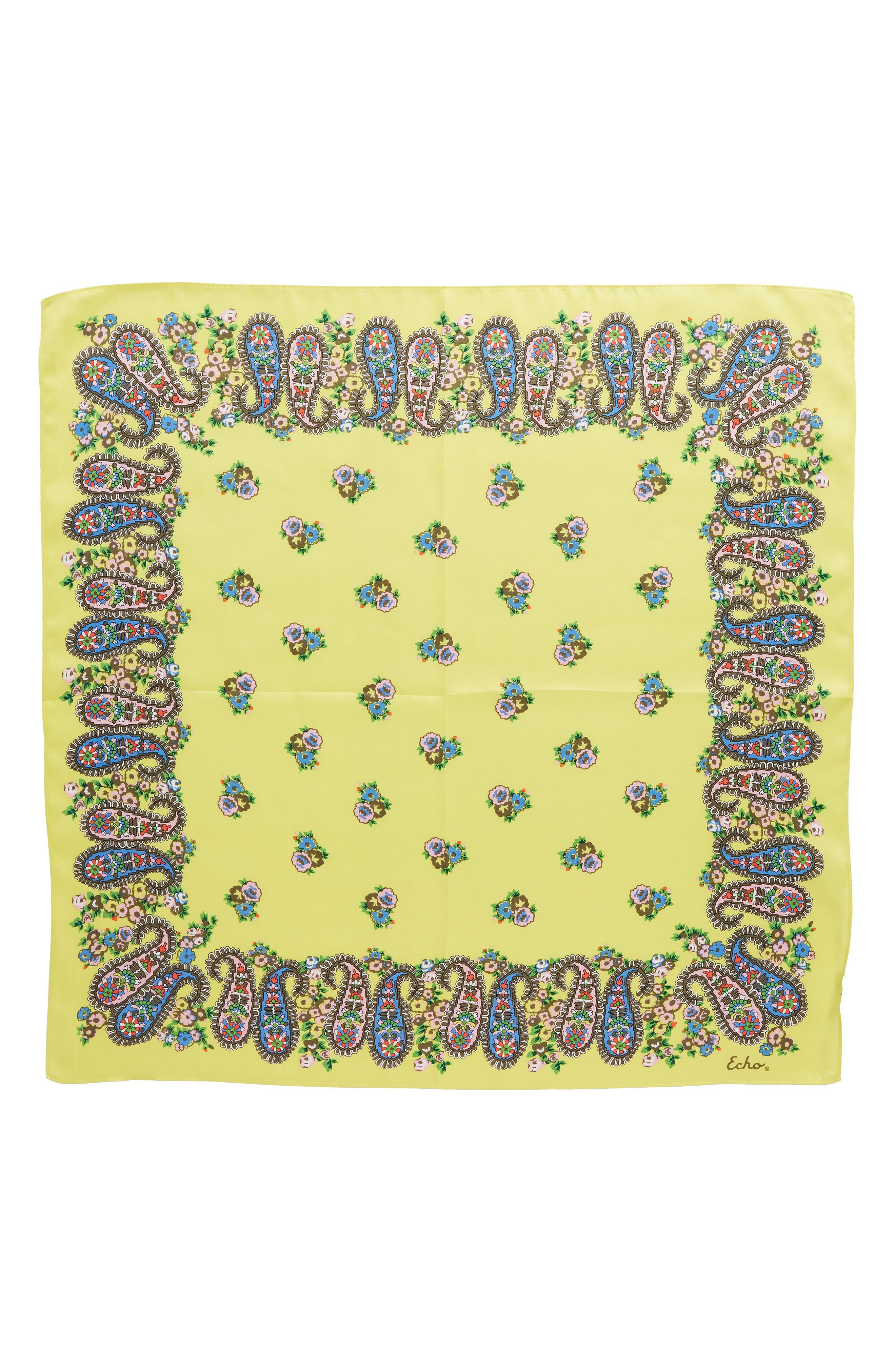 Penelope Paisley Silk Bandana,                             Alternate thumbnail 3, color,                             325