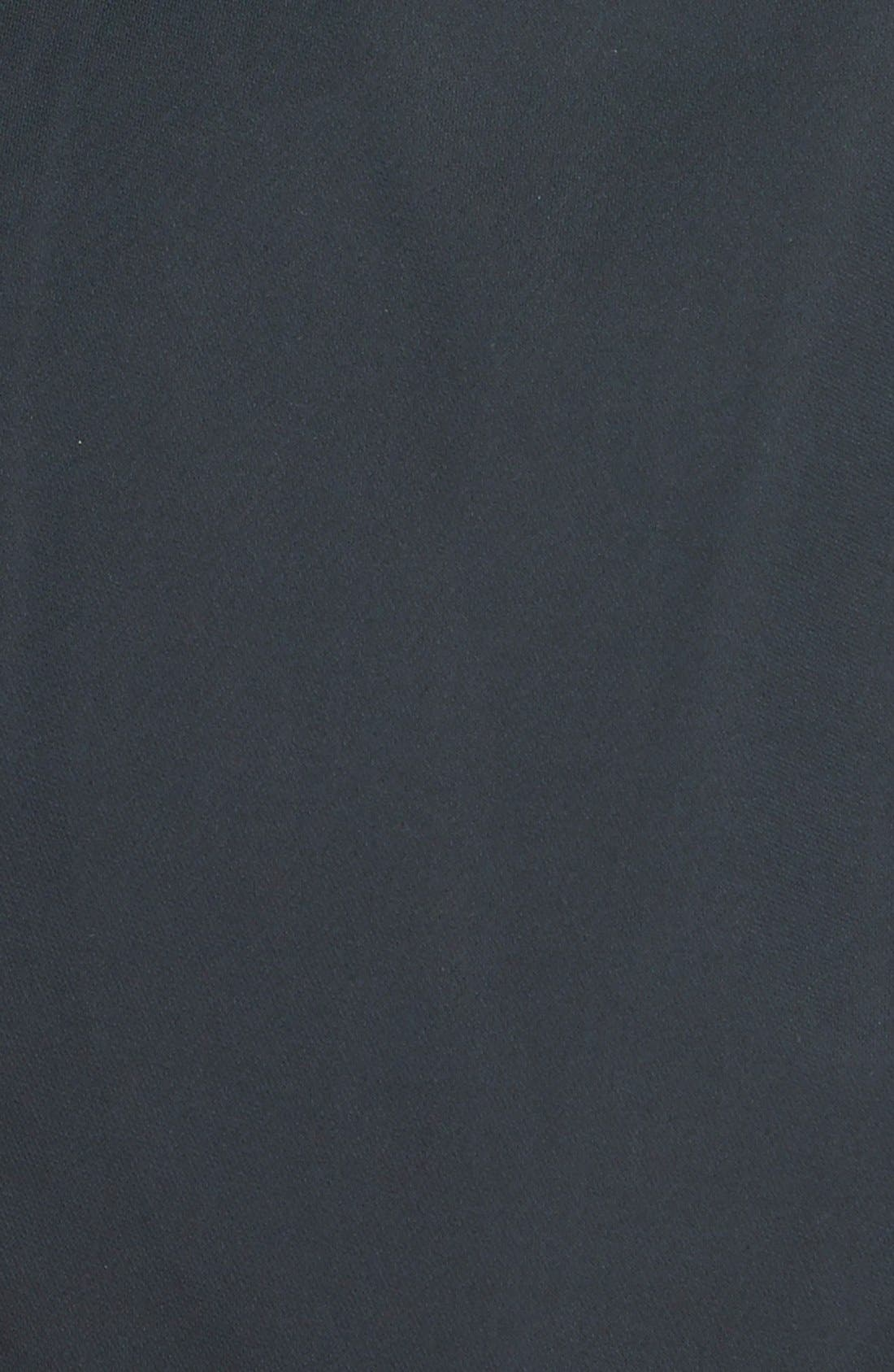 Cotton Blend Short Trench Coat,                             Alternate thumbnail 3, color,                             001