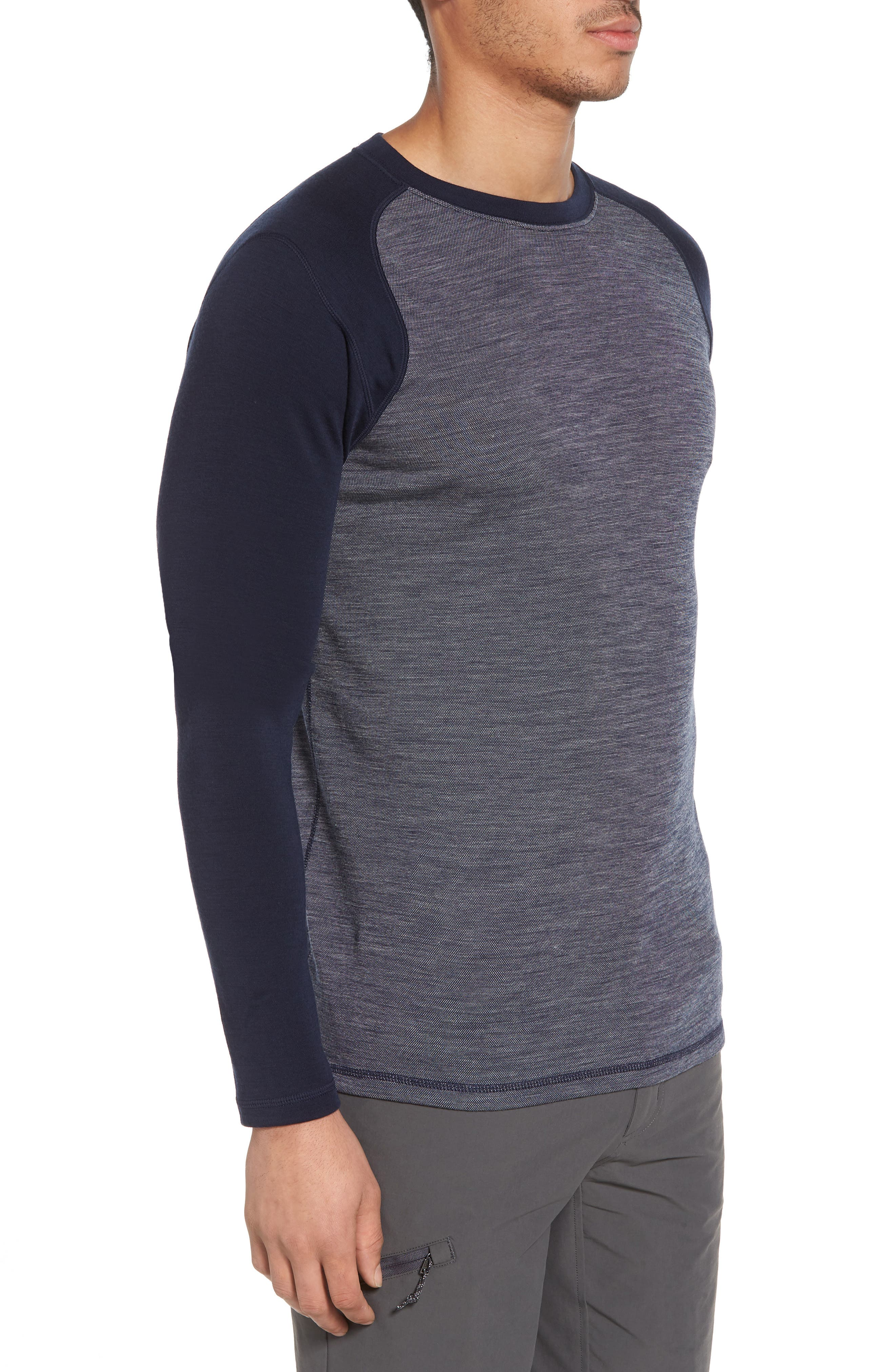 Merino Wool Raglan T-Shirt,                             Alternate thumbnail 3, color,                             410