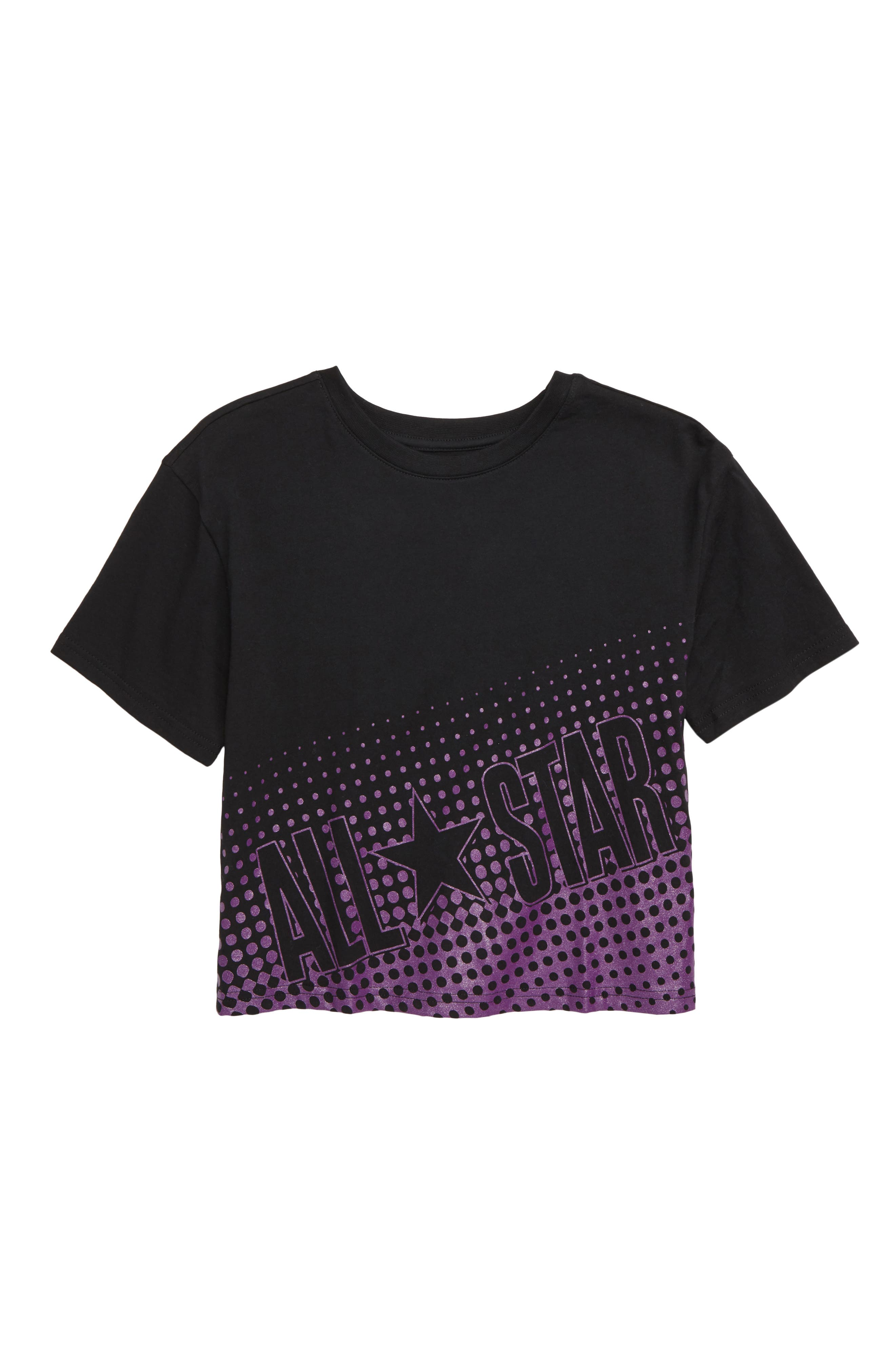 Faded All Star<sup>®</sup> Tee,                         Main,                         color, BLACK