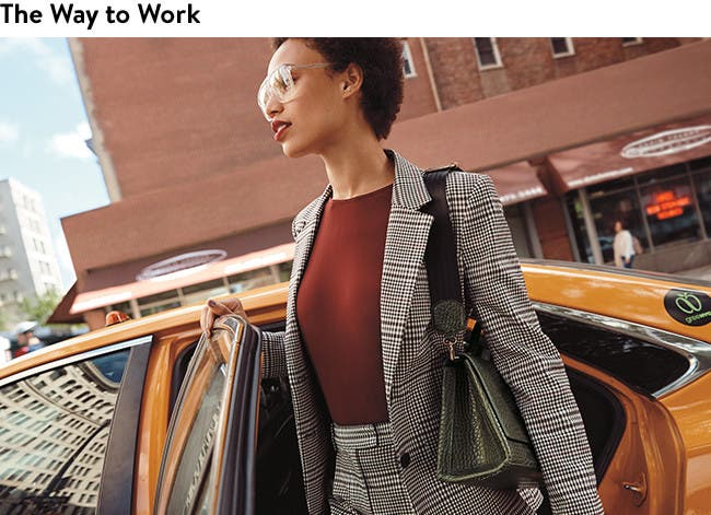 Women's work clothing, shoes and accessories.