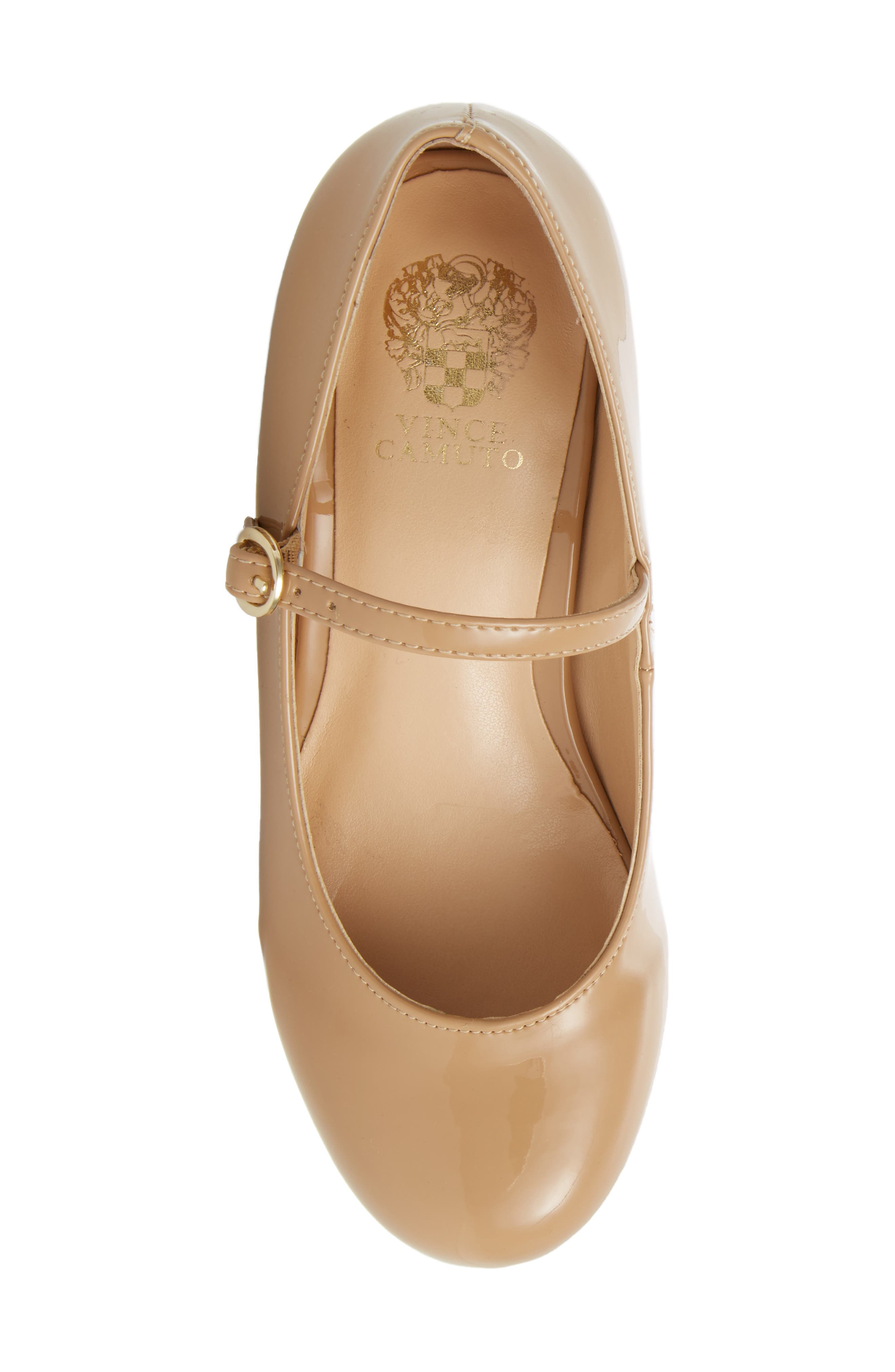 Brenna Mary Jane Pump,                             Alternate thumbnail 4, color,                             NUDE PATENT