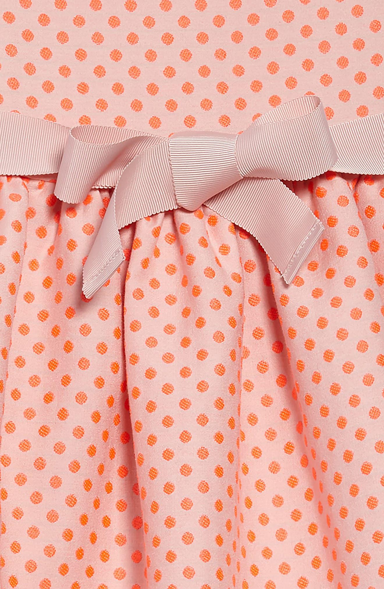 Dot Sleeveless Dress,                             Alternate thumbnail 3, color,                             664