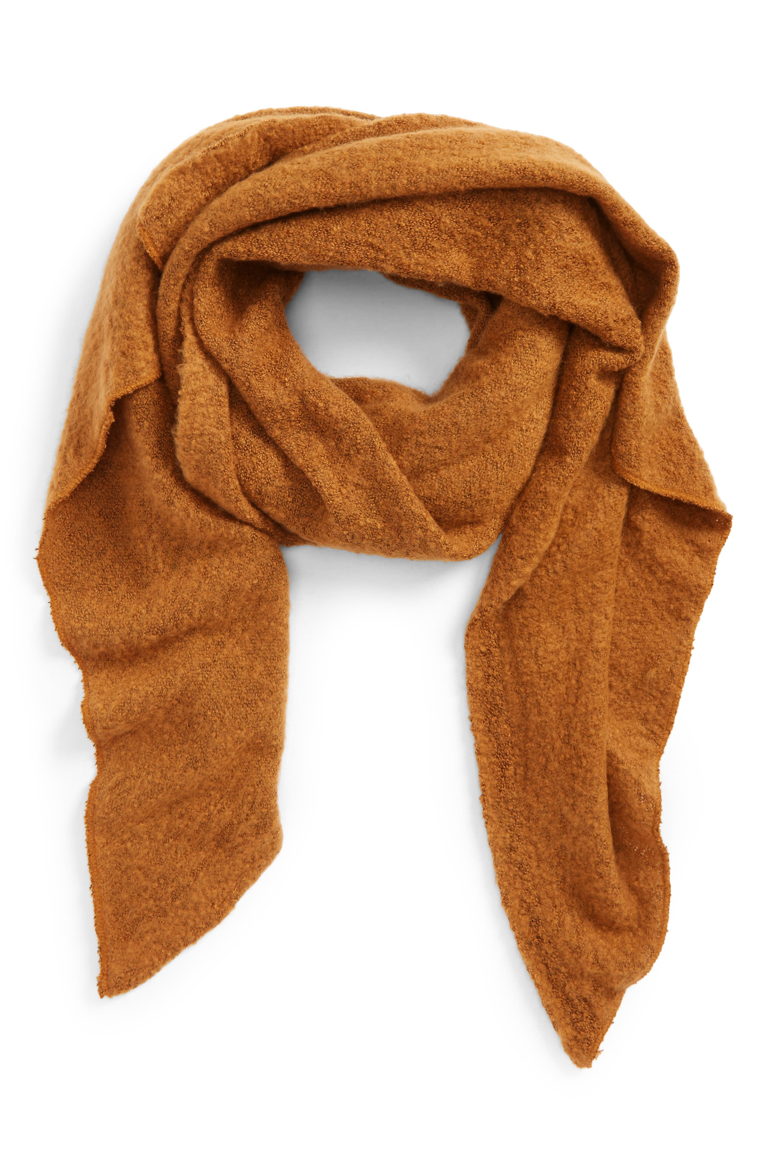 Solid Plush Scarf,                         Main,                         color, 251