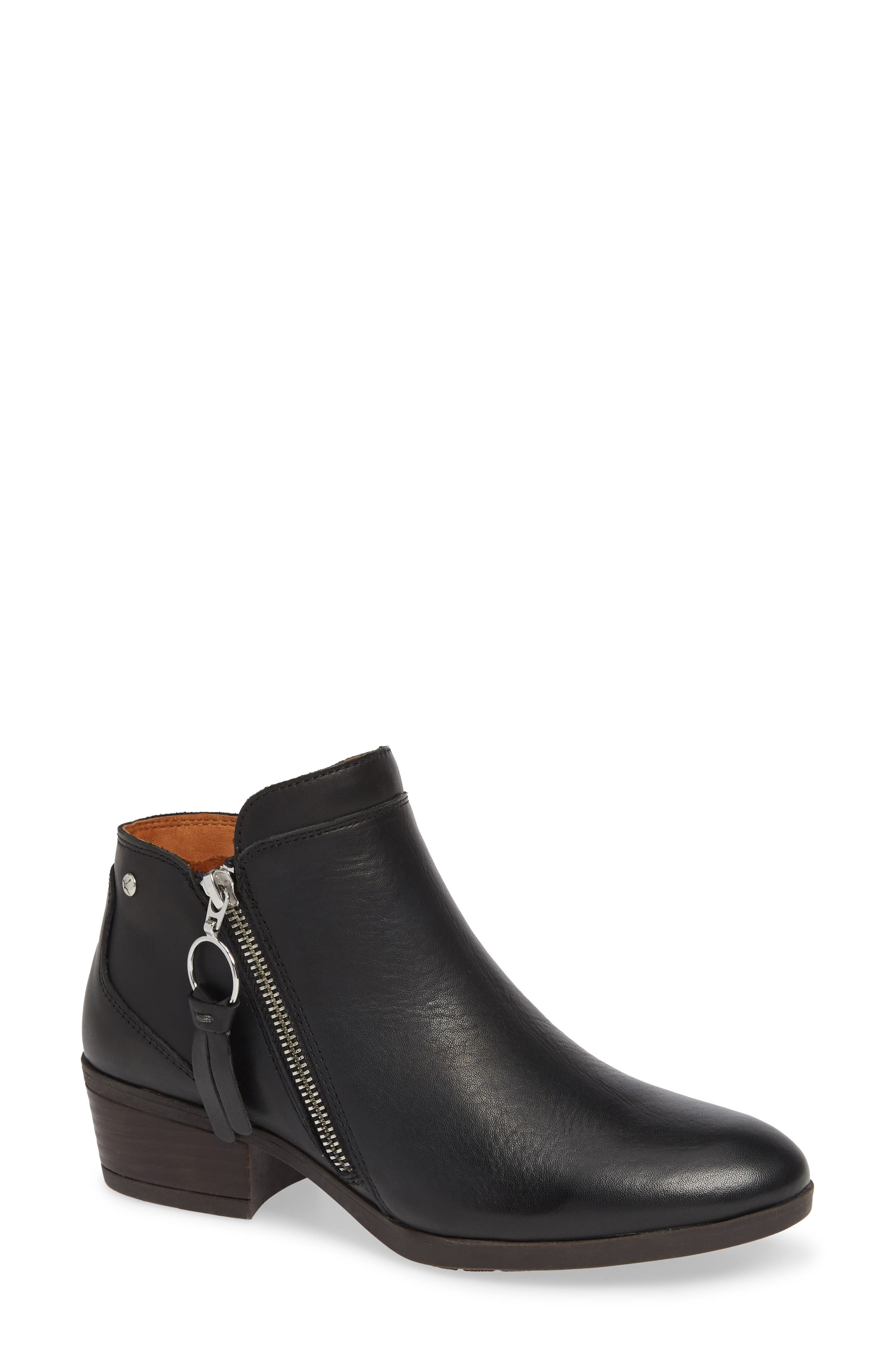 Daroca Bootie,                             Main thumbnail 1, color,                             BLACK LEATHER