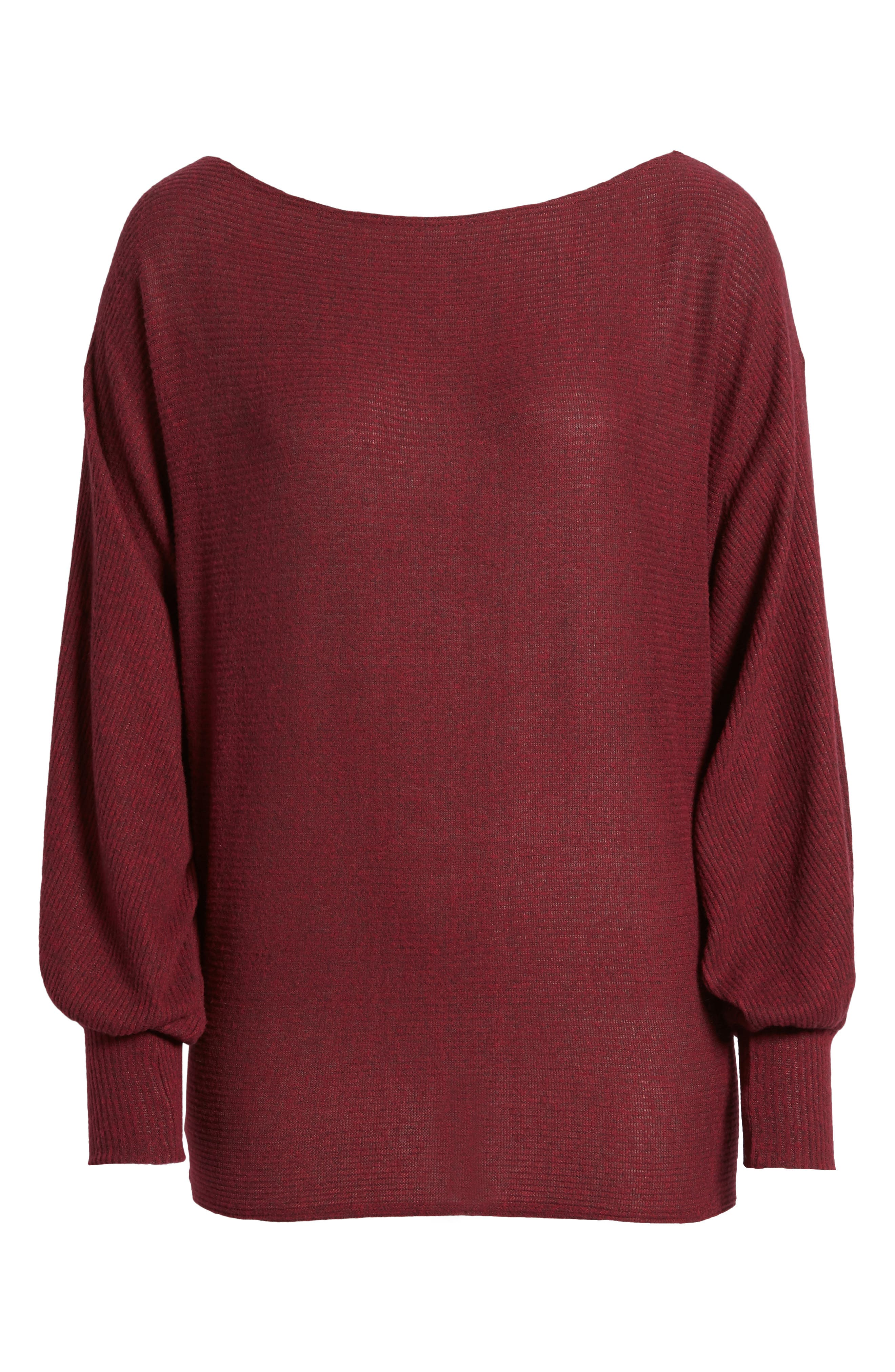 Balloon Sleeve Sweater,                             Alternate thumbnail 6, color,                             930