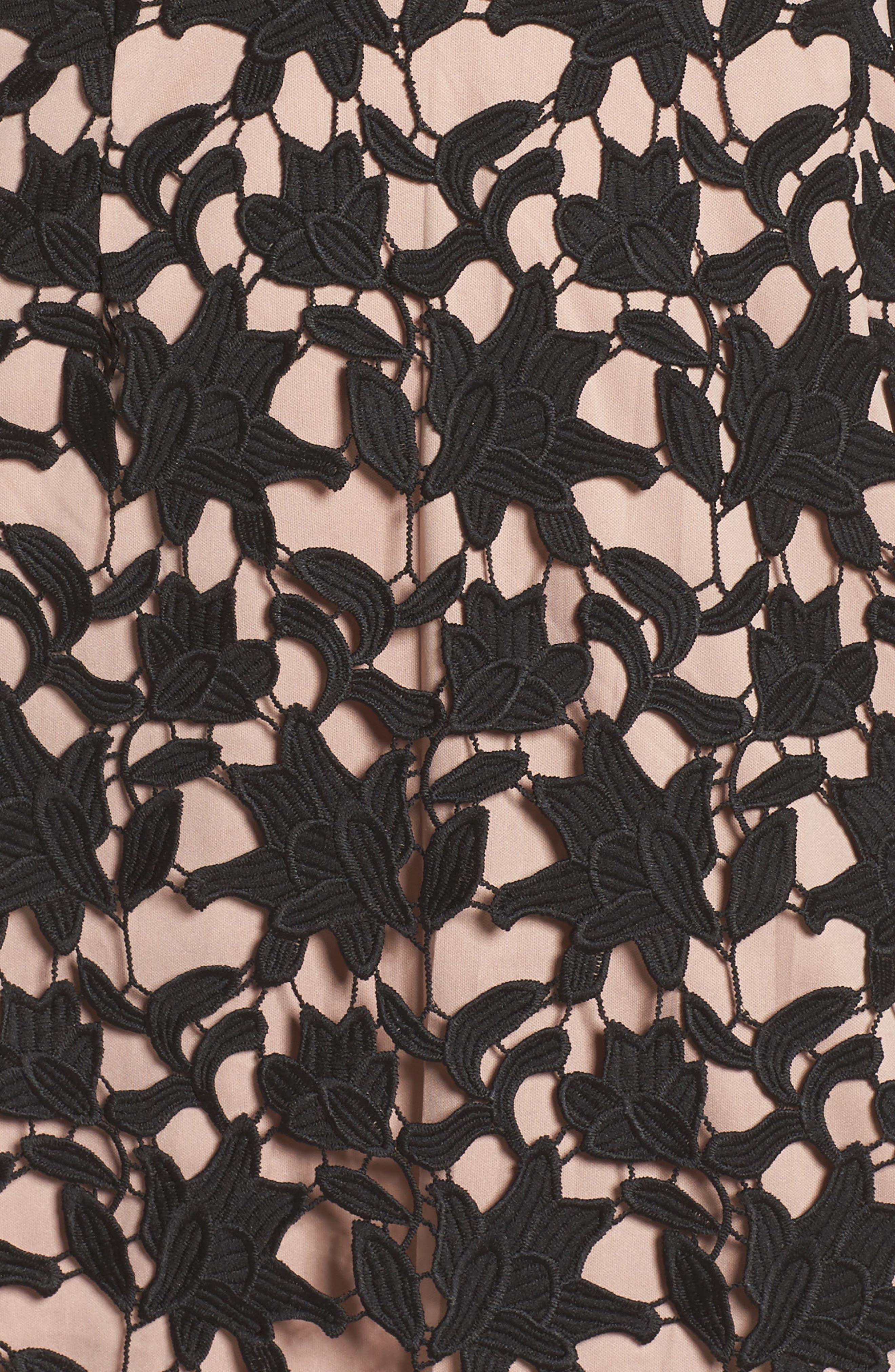 Ava Lace Sheath Dress,                             Alternate thumbnail 5, color,                             002