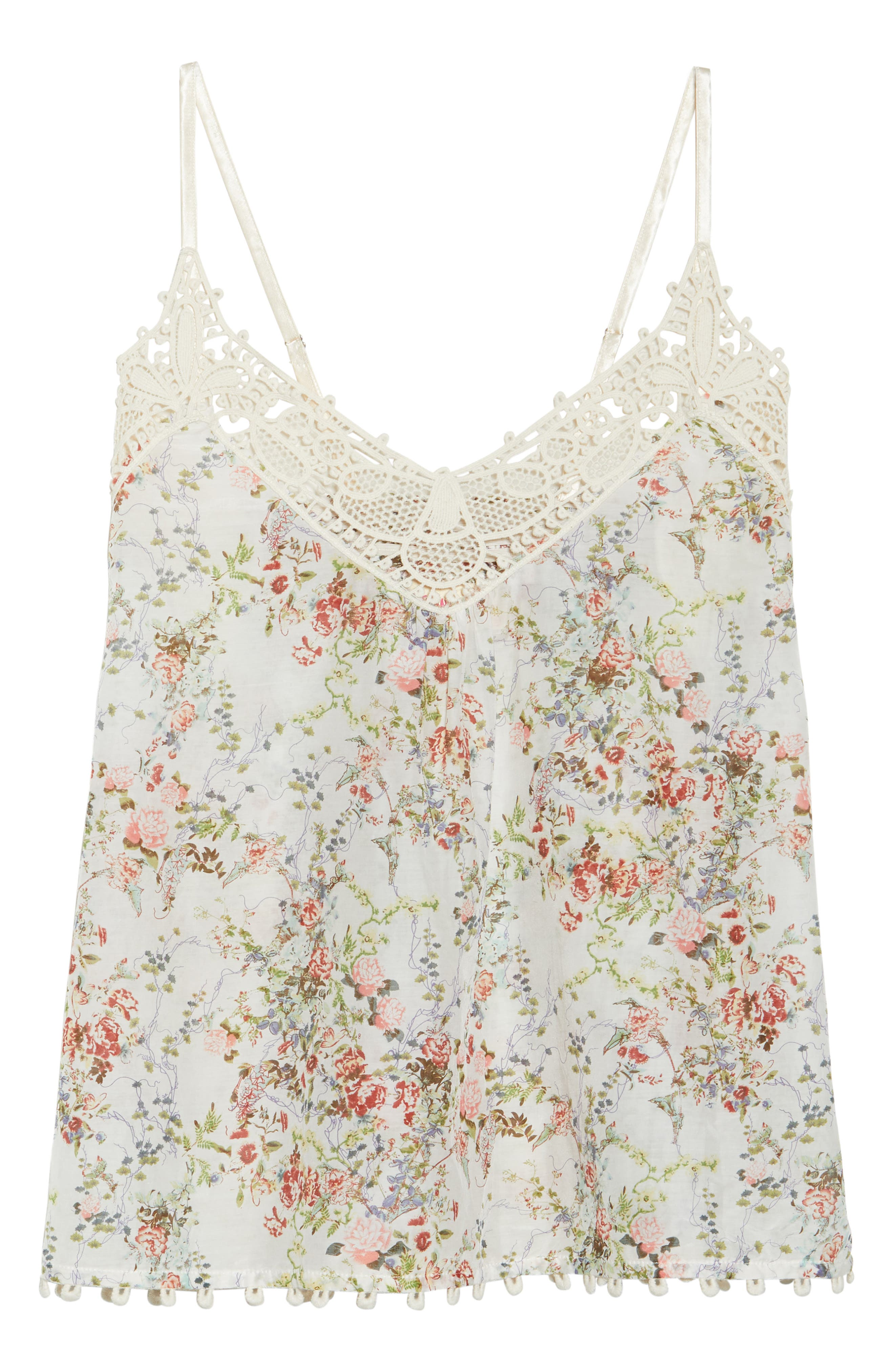 Yolly Camisole,                             Alternate thumbnail 6, color,                             IVORY FLORAL