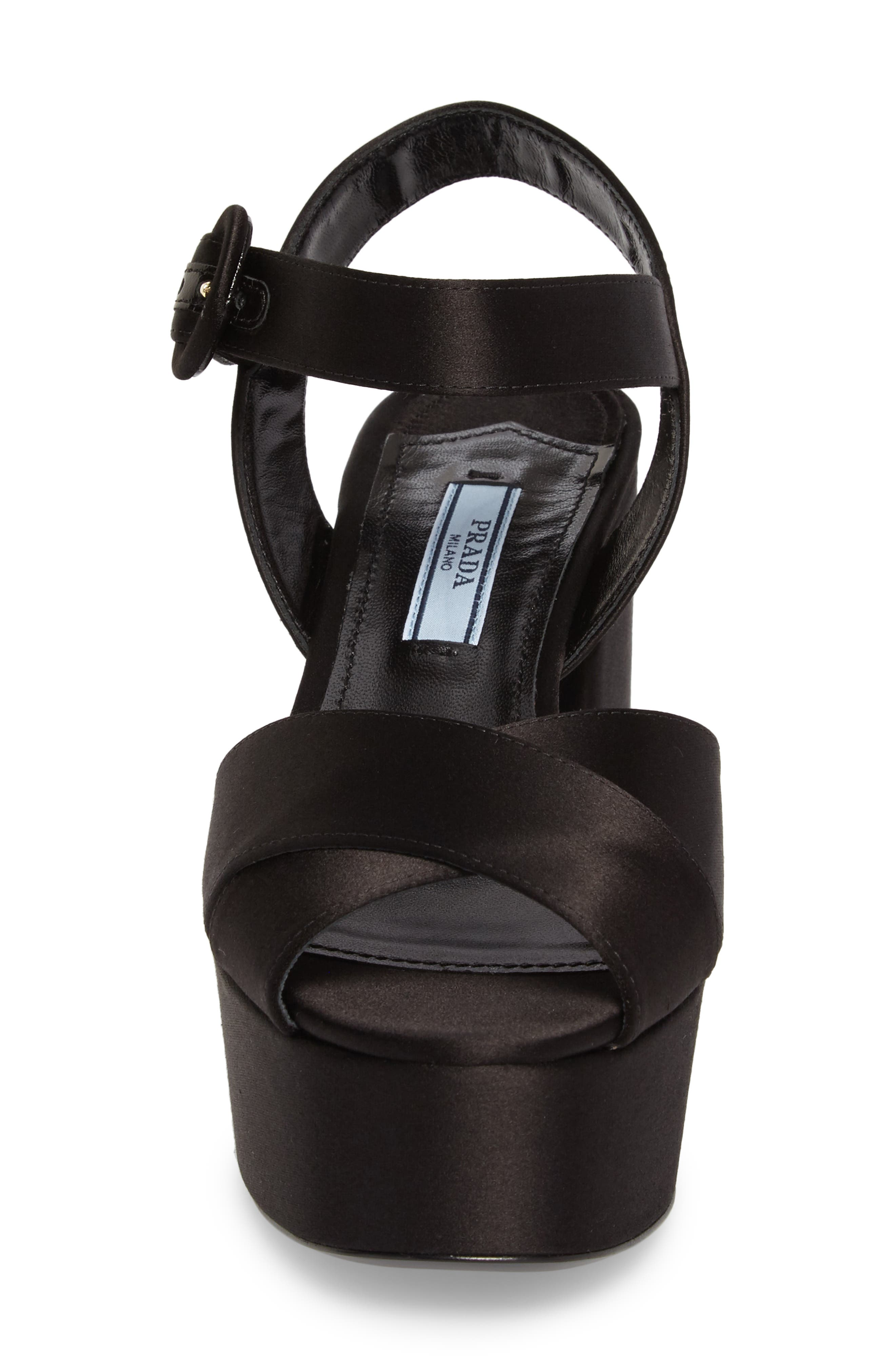 Block Heel Platform Sandal,                             Alternate thumbnail 4, color,                             002
