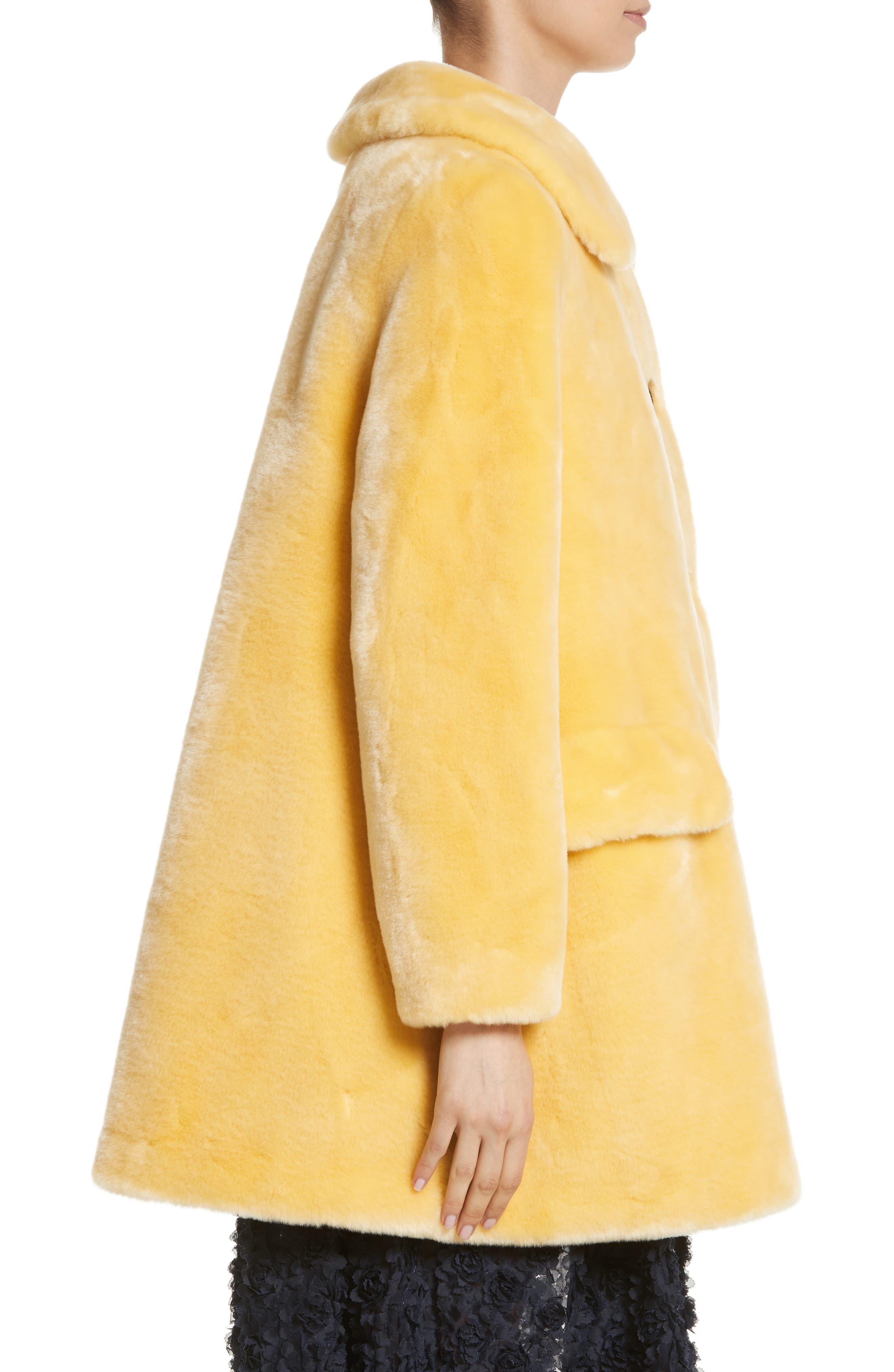 Pyrus Oversized Faux Fur Coat,                             Alternate thumbnail 3, color,                             700