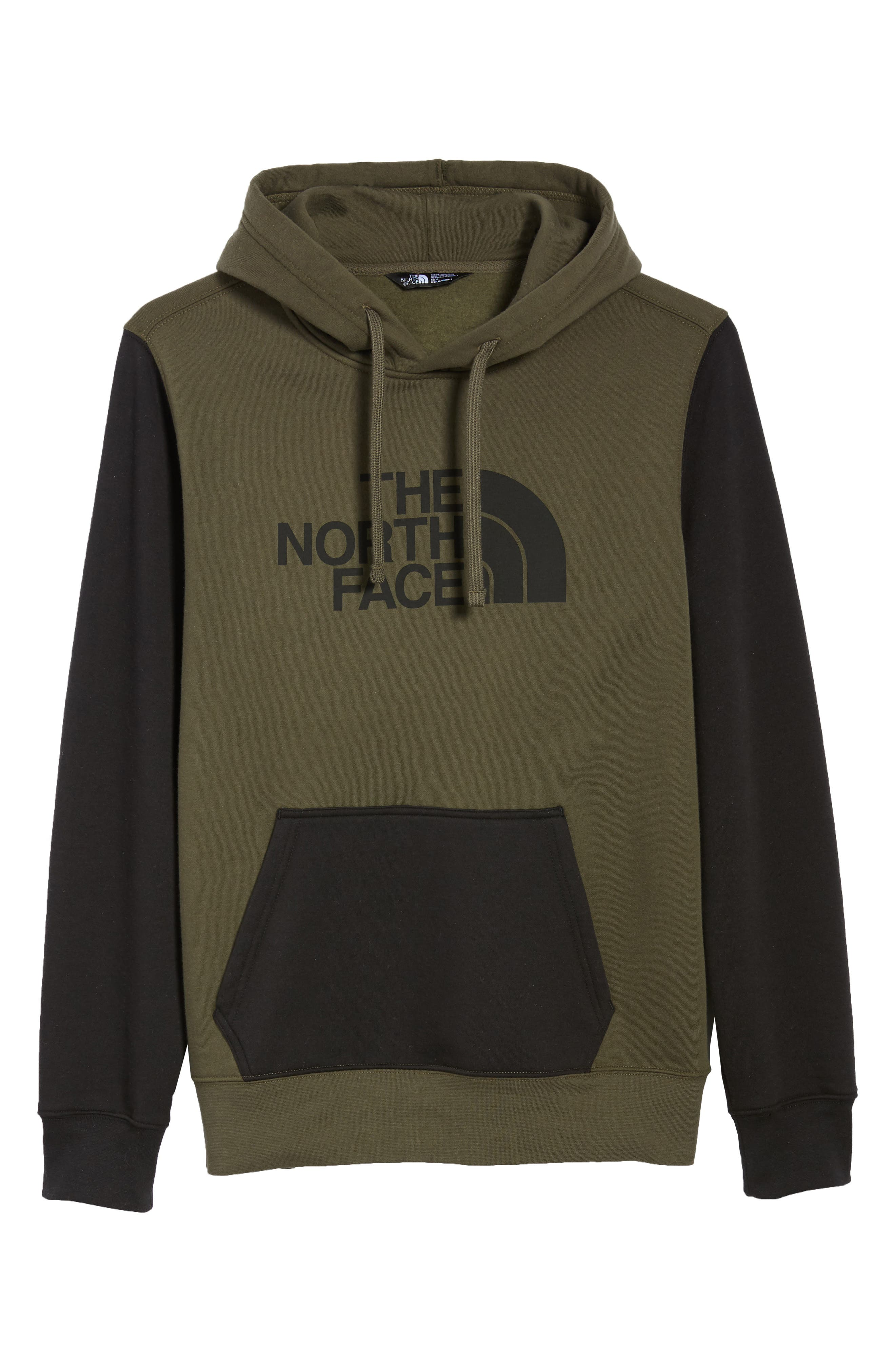 Holiday Half Dome Hooded Pullover,                             Alternate thumbnail 6, color,                             NEW TAUPE GREEN/ TNF BLACK