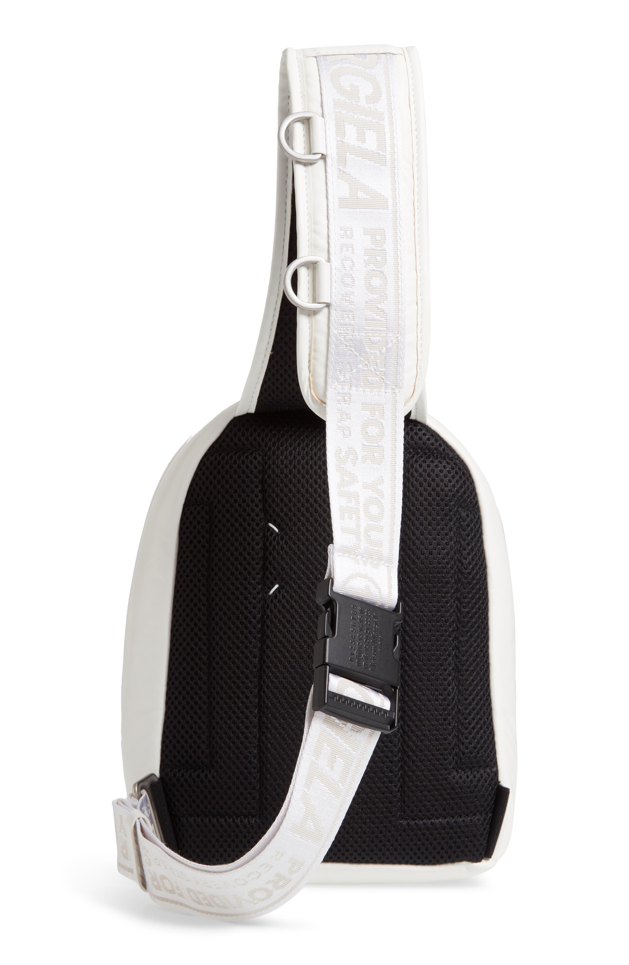MAISON MARGIELA,                             Mini Backpack,                             Alternate thumbnail 3, color,                             WHITE