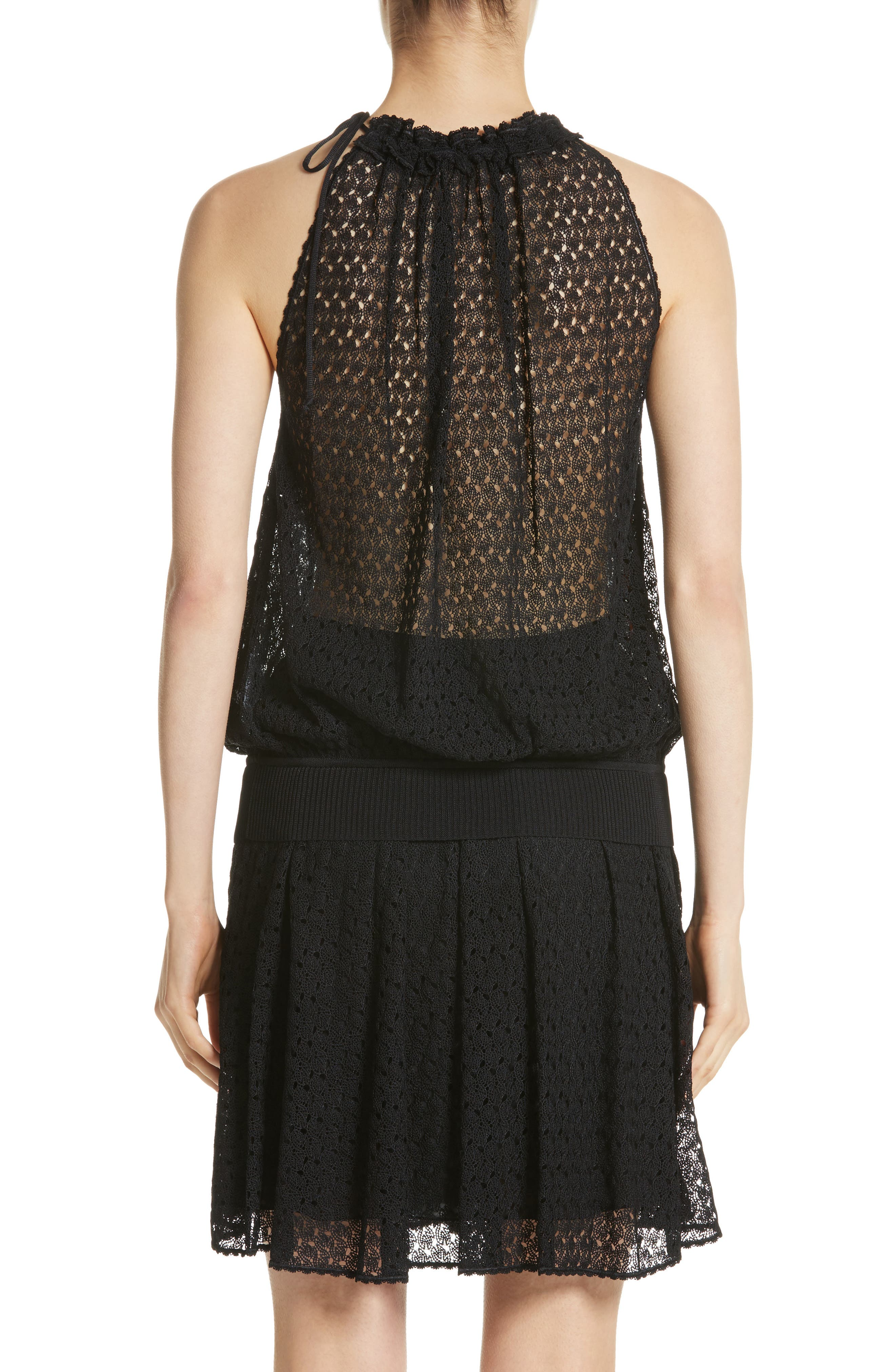 Knit Halter Tank,                             Alternate thumbnail 2, color,                             001