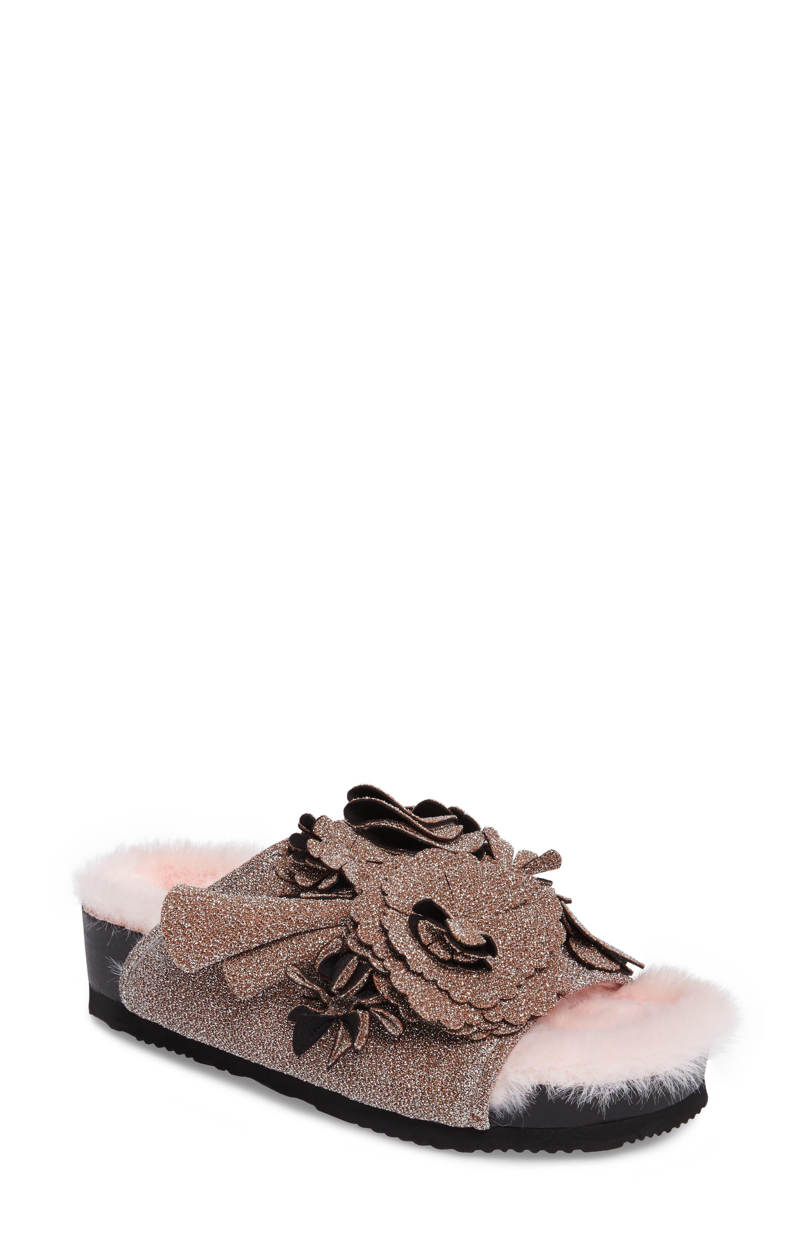 Floral Slide Sandal,                         Main,                         color, 650