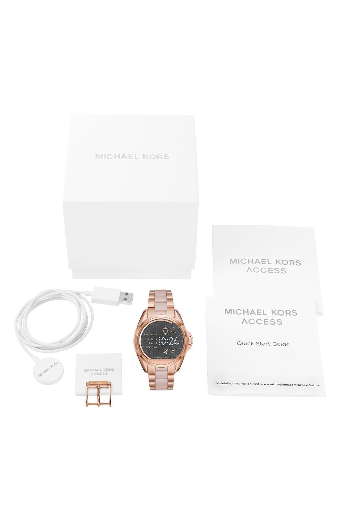 MICHAEL Michael Kors Bradshaw Access Bracelet Smart Watch, 45mm,                             Alternate thumbnail 24, color,