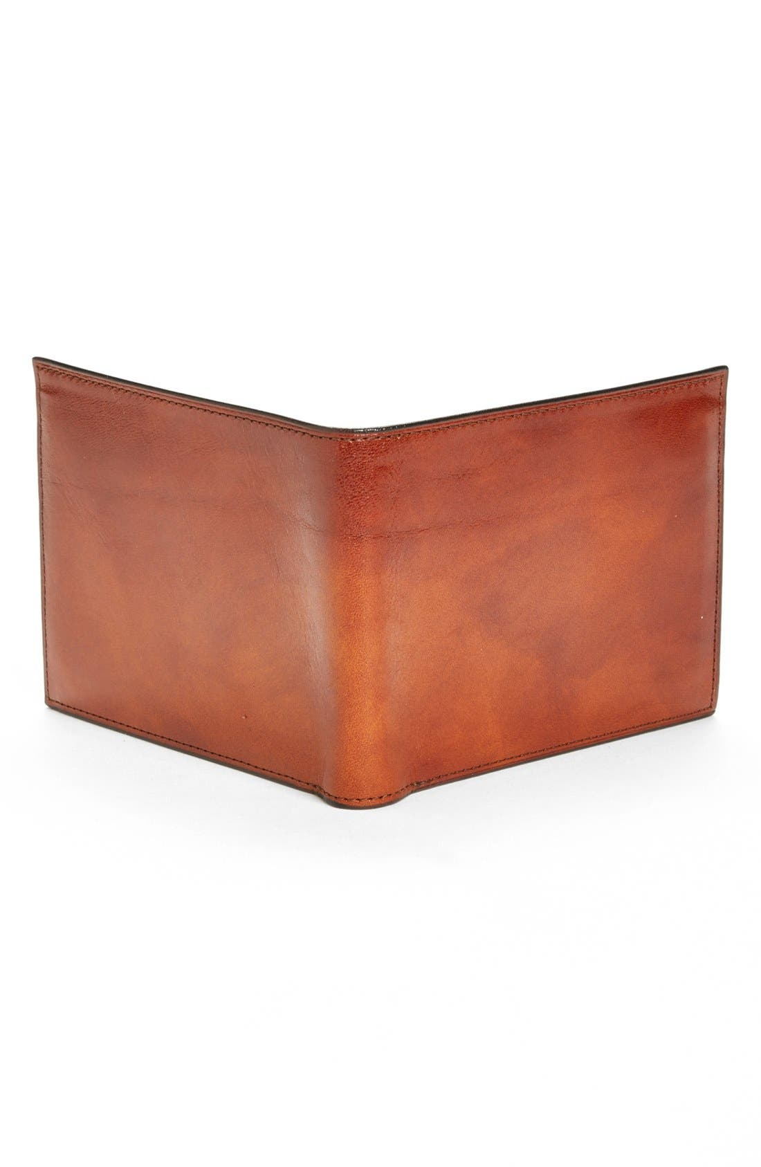 ID Flap Leather Wallet,                             Alternate thumbnail 7, color,