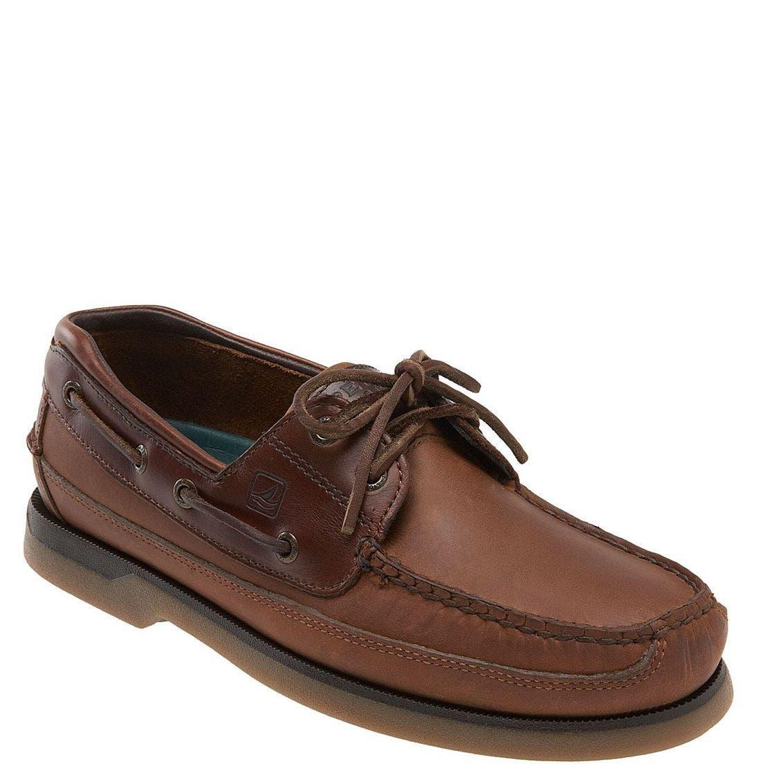 Top-Sider<sup>®</sup> 'Mako Two-Eye Canoe Moc' Boat Shoe,                             Main thumbnail 1, color,                             COP