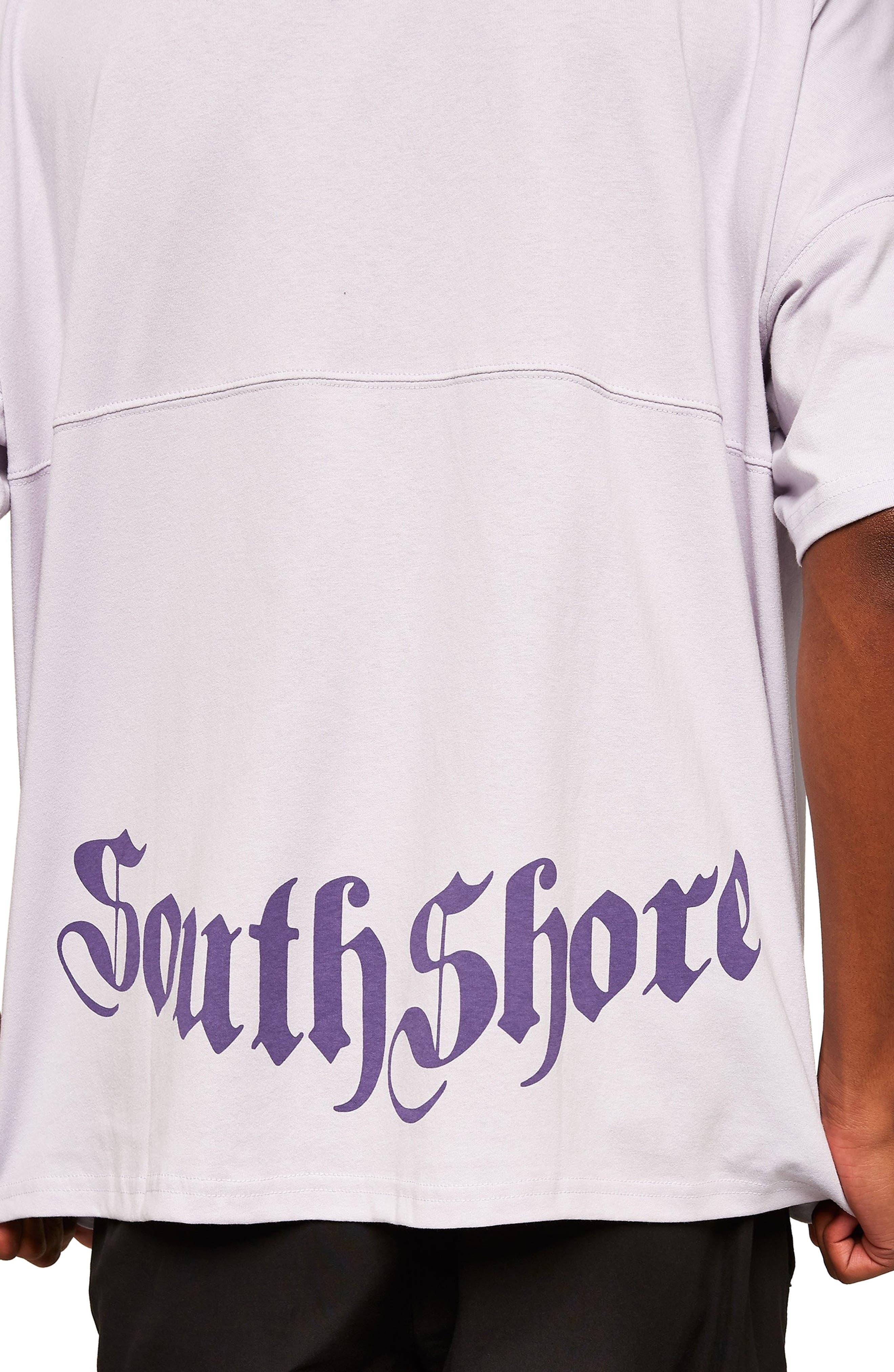 Southshore Oversize T-Shirt,                             Alternate thumbnail 4, color,                             PURPLE