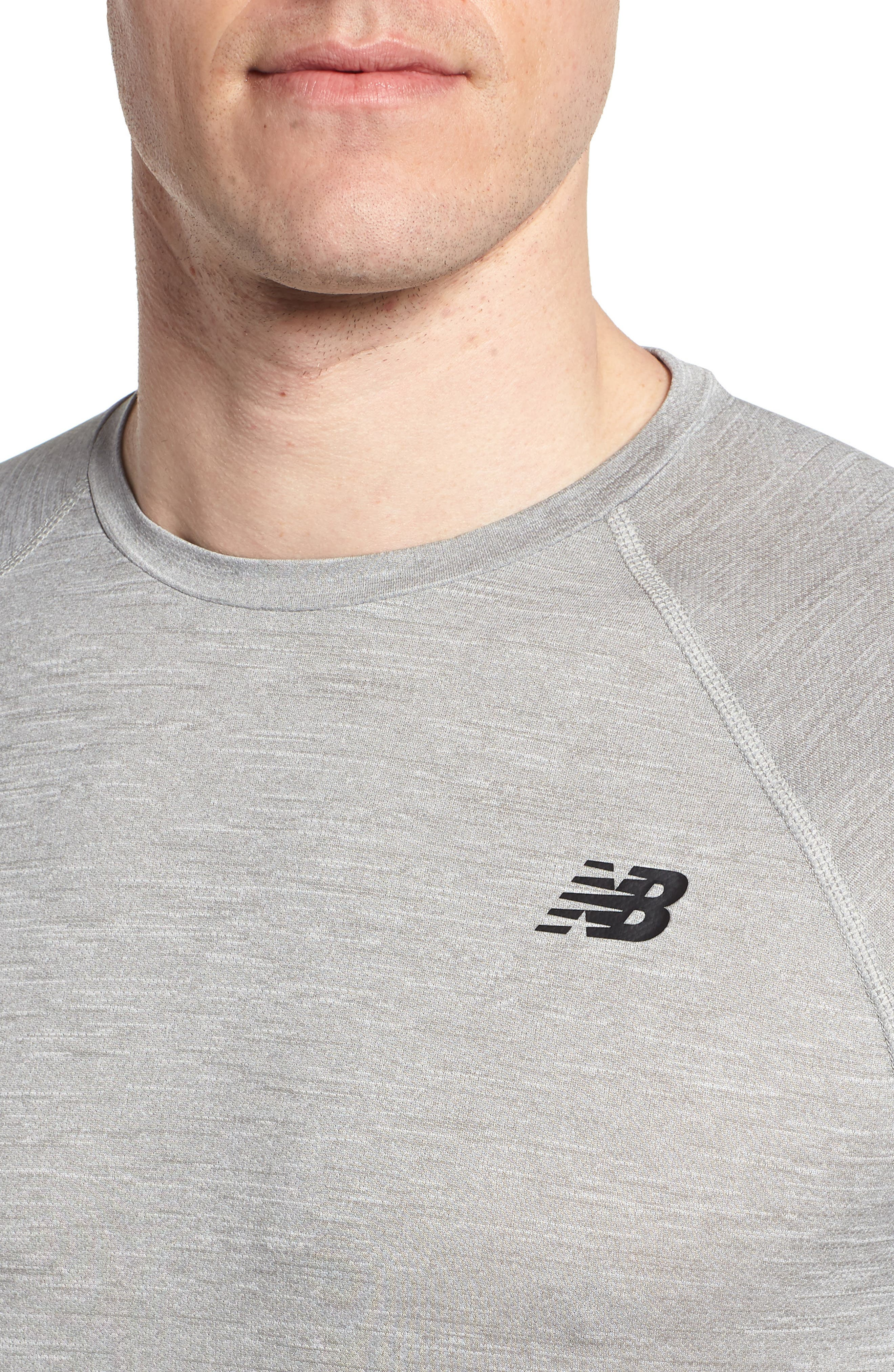 Tenacity Crewneck T-Shirt,                             Alternate thumbnail 4, color,                             ATHLETIC GREY