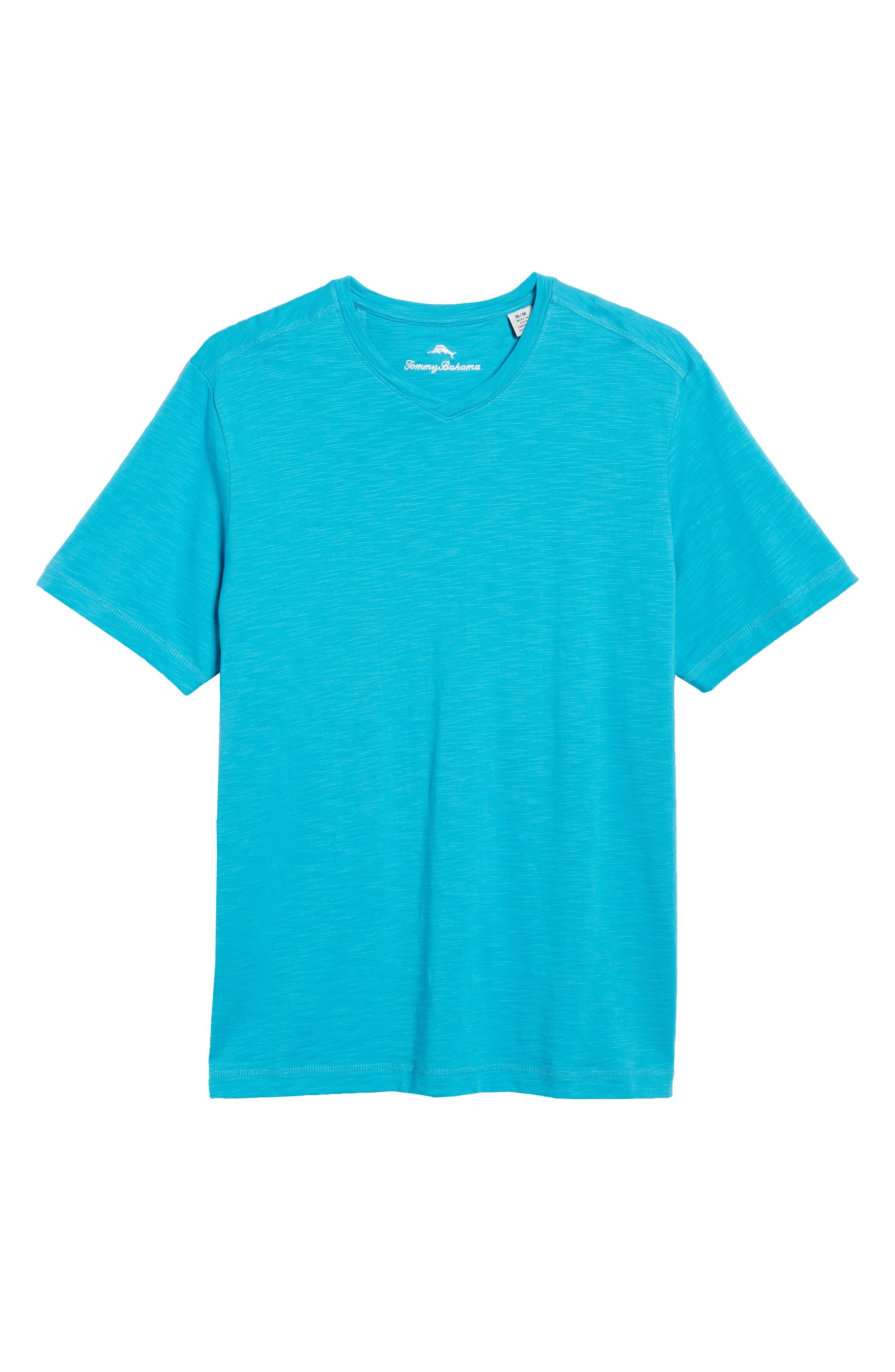 Portside Palms V-Neck T-Shirt,                             Alternate thumbnail 51, color,