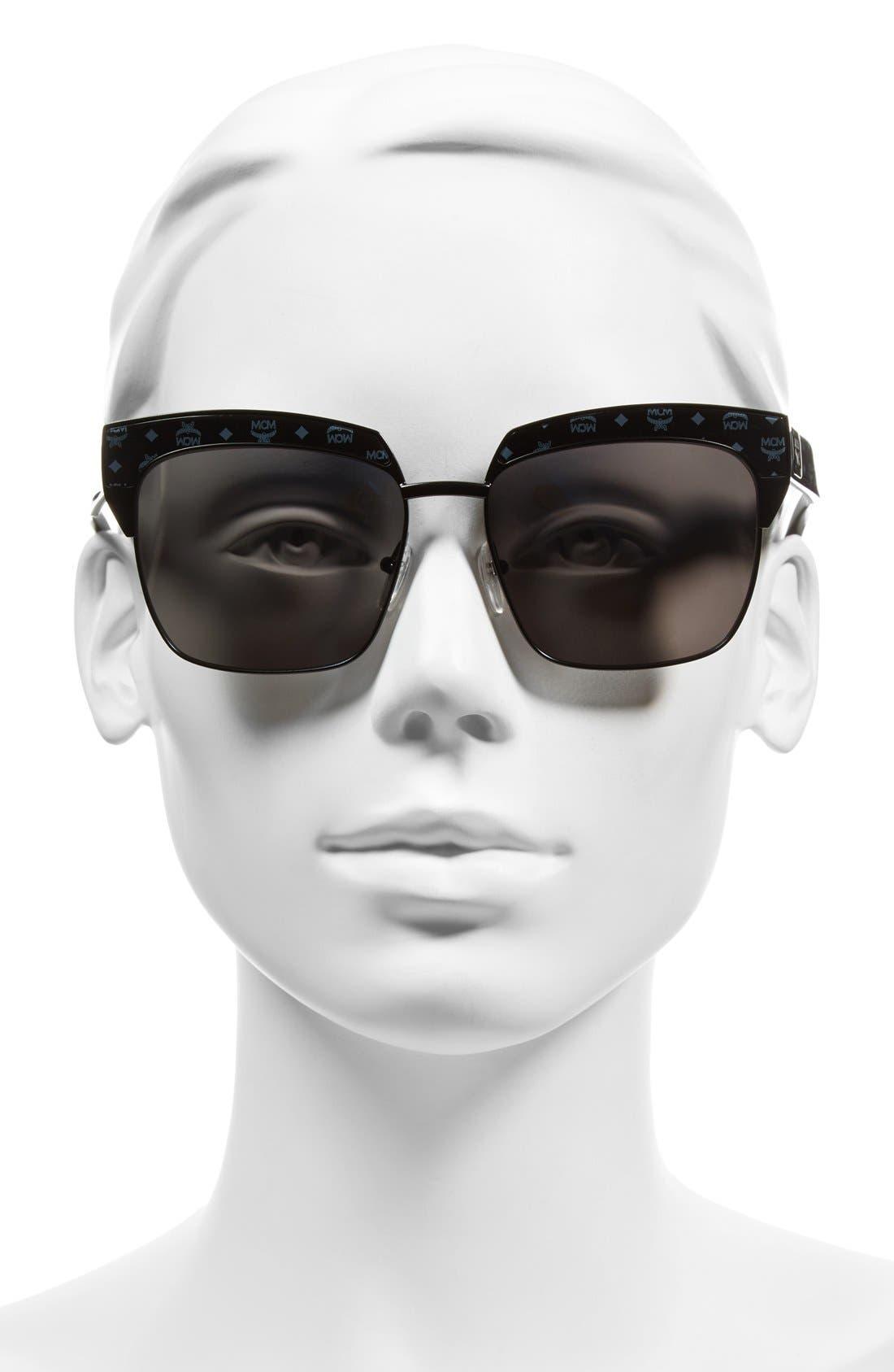 'Visetos' 56mm Retro Sunglasses,                             Alternate thumbnail 2, color,                             005