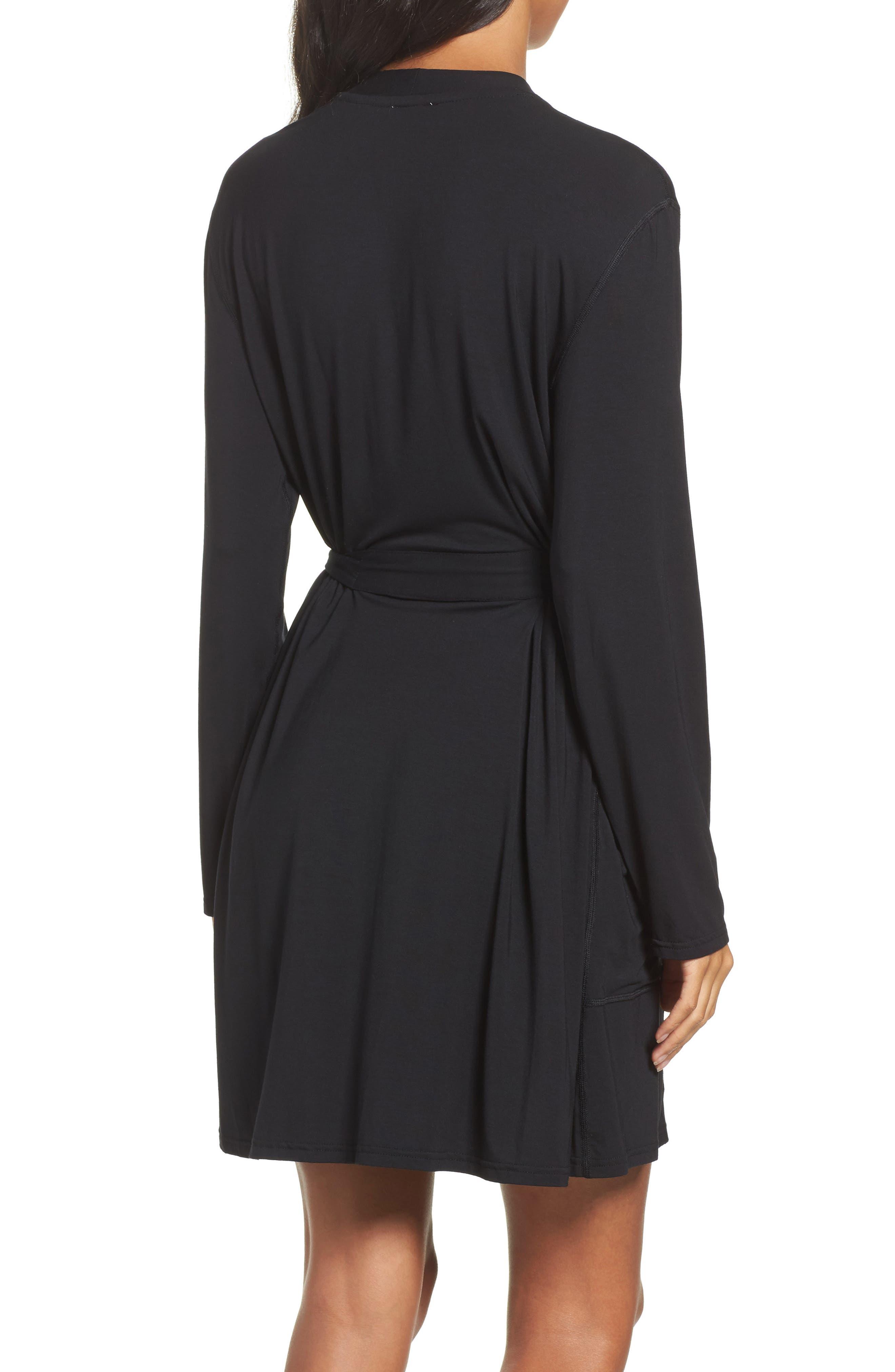 Short Robe,                             Alternate thumbnail 2, color,                             BLACK