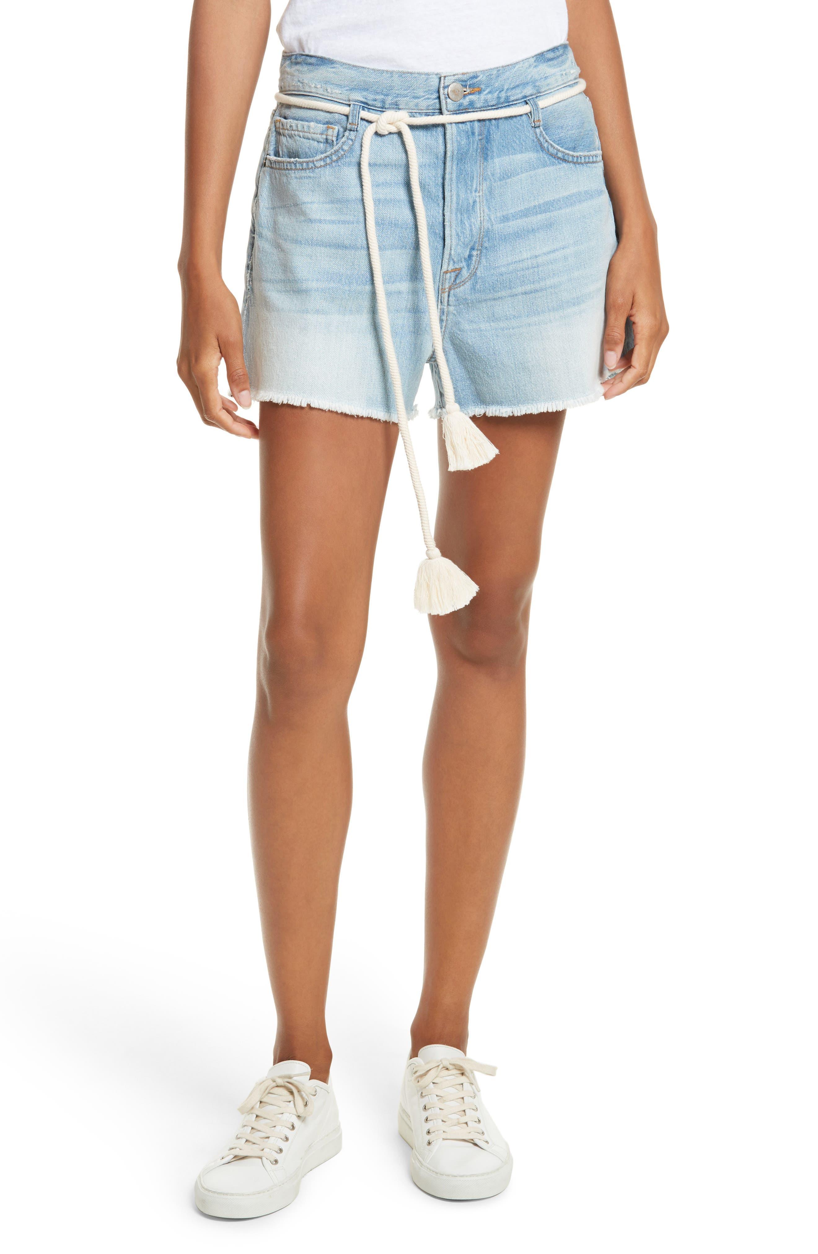 Cutoff Denim Shorts,                         Main,                         color, 402