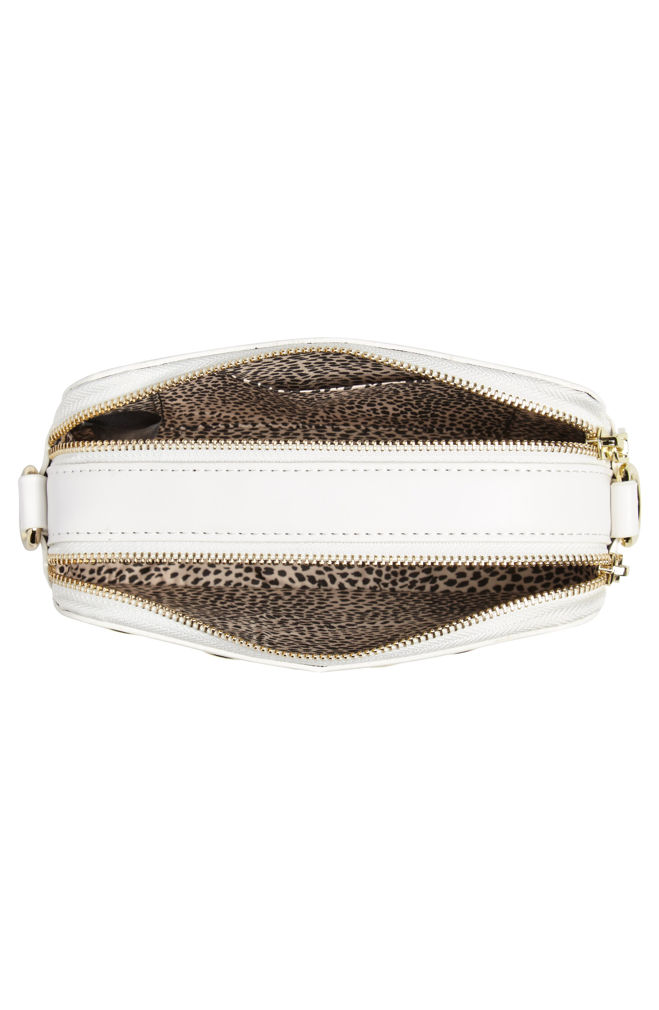 Dyana Grommet Faux Leather Crossbody Bag,                             Alternate thumbnail 8, color,