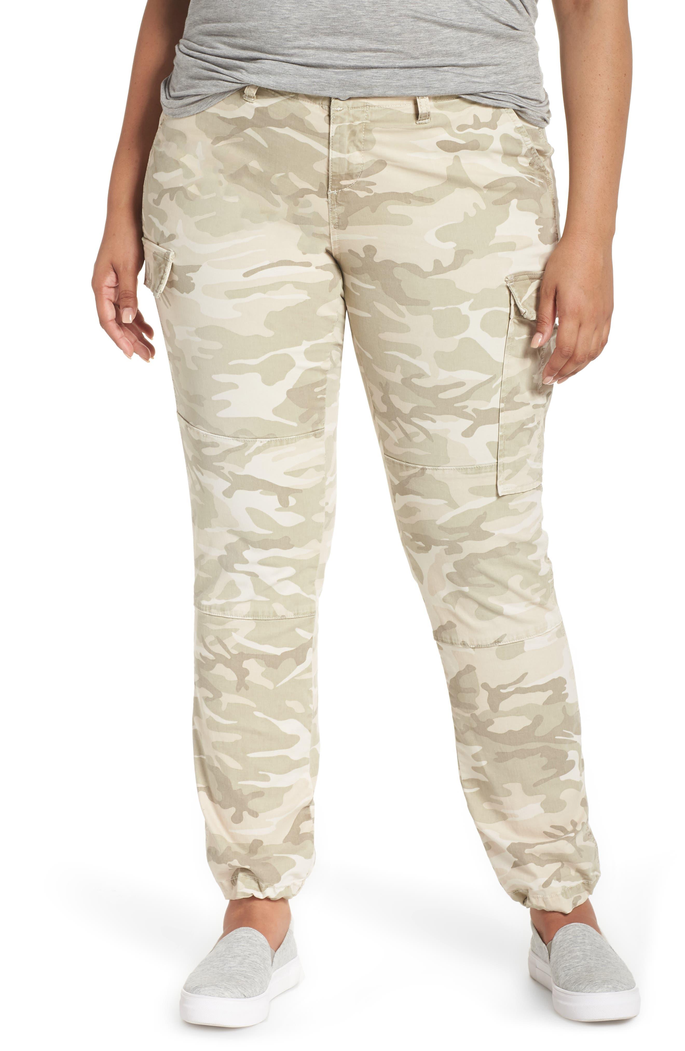 Camo Twill Cargo Pants,                         Main,                         color, CLOUD CAMO