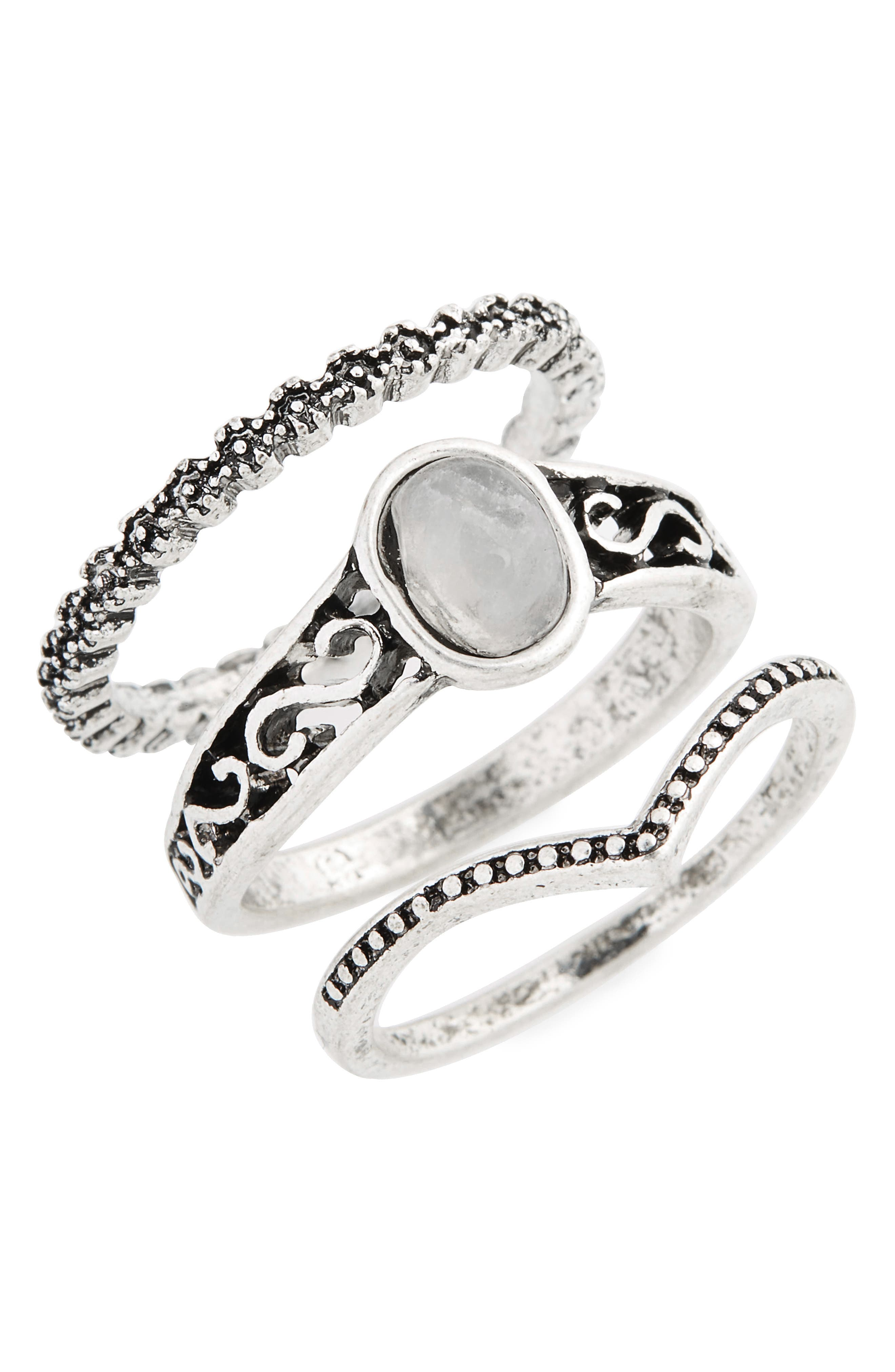 Set of 3 Moon Energy Rings,                         Main,                         color, 040