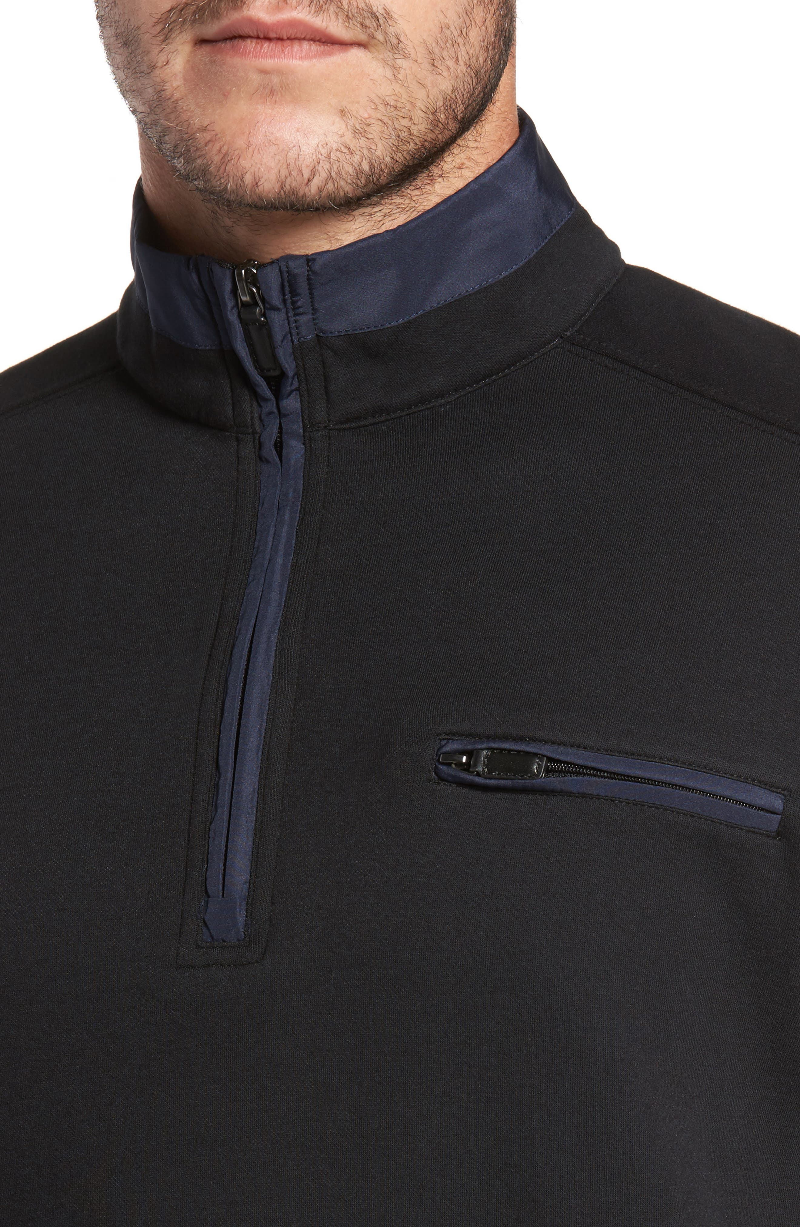 Classic Fit Solid Quarter Zip Pullover,                             Alternate thumbnail 7, color,