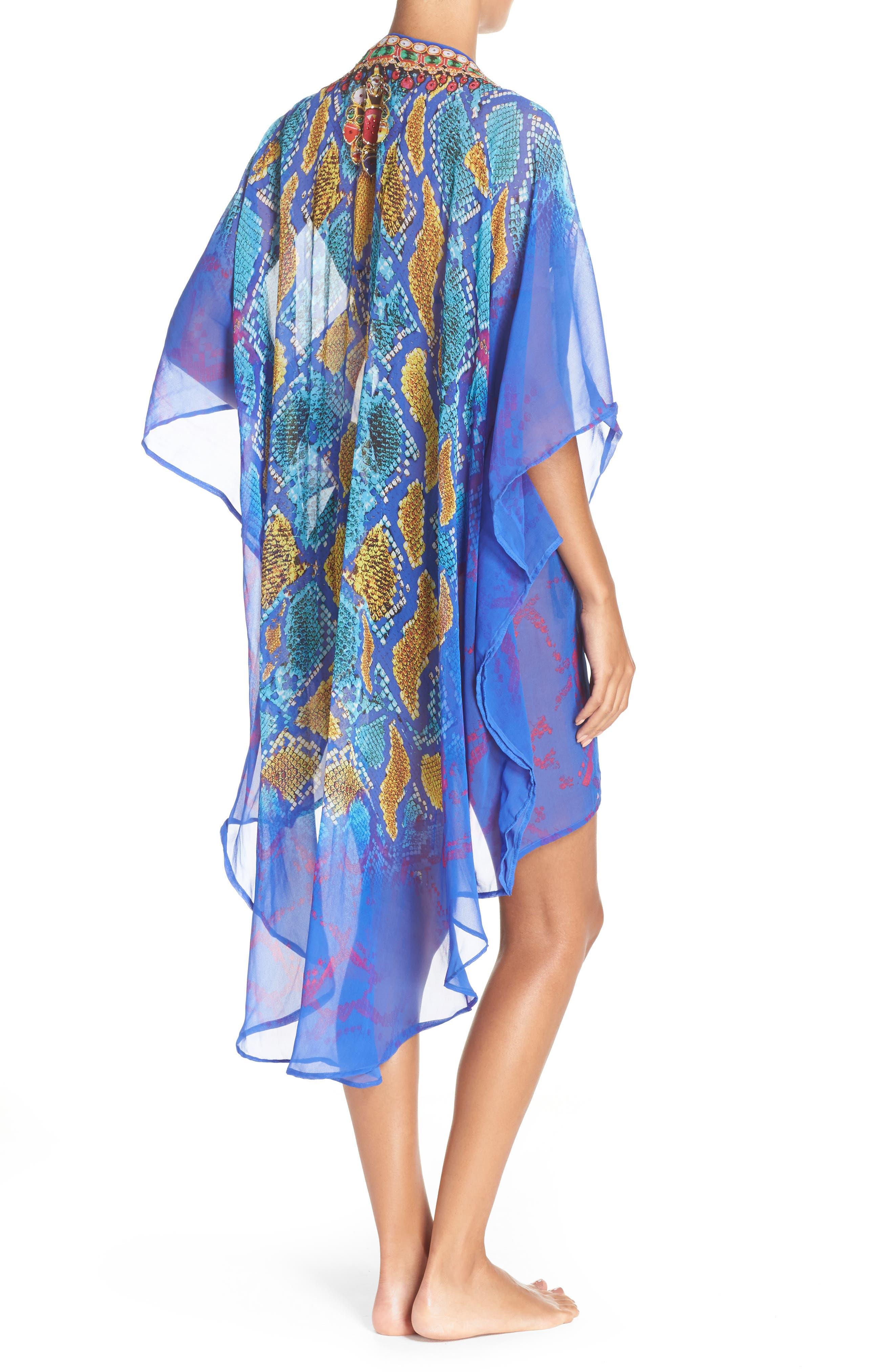 'Bahamas' Kimono,                             Alternate thumbnail 2, color,                             BLUE MULTI